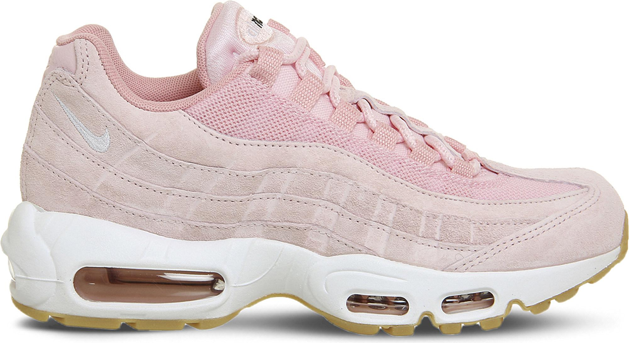 sale retailer 2ecae e888e ... purchase lyst nike air max 95 suede and mesh trainers in pink 610e1  c84e0 ...