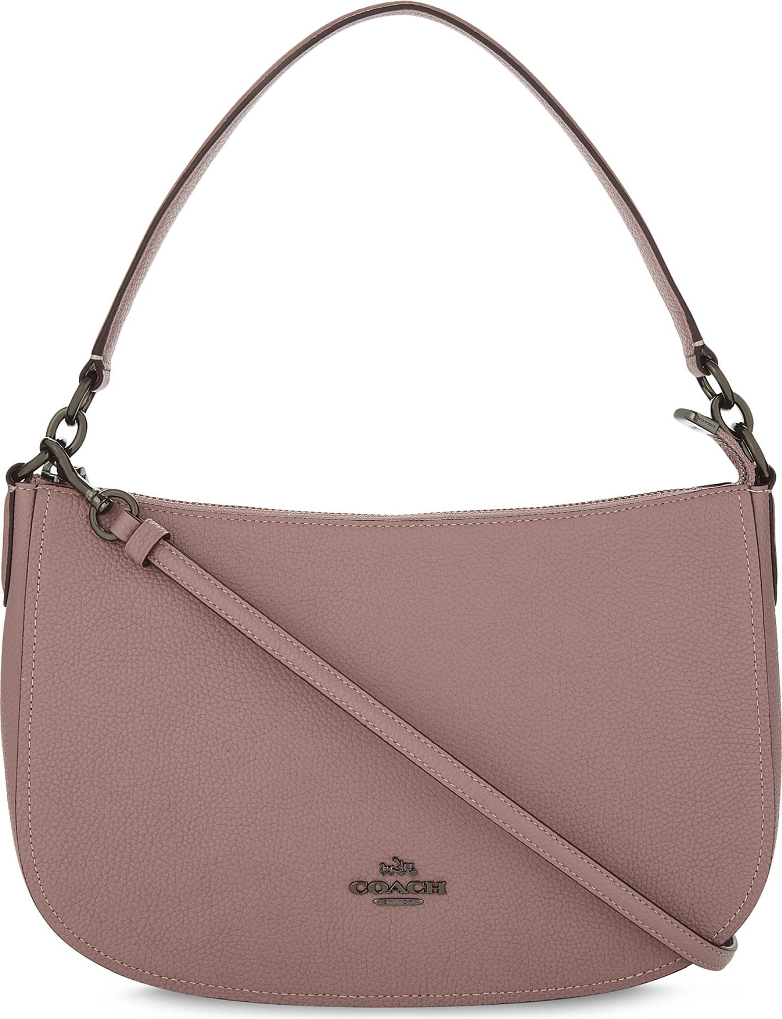 5fee0f398b ... best coach ladies rose round luxury chelsea leather cross body bag in  fb03f bf4a0