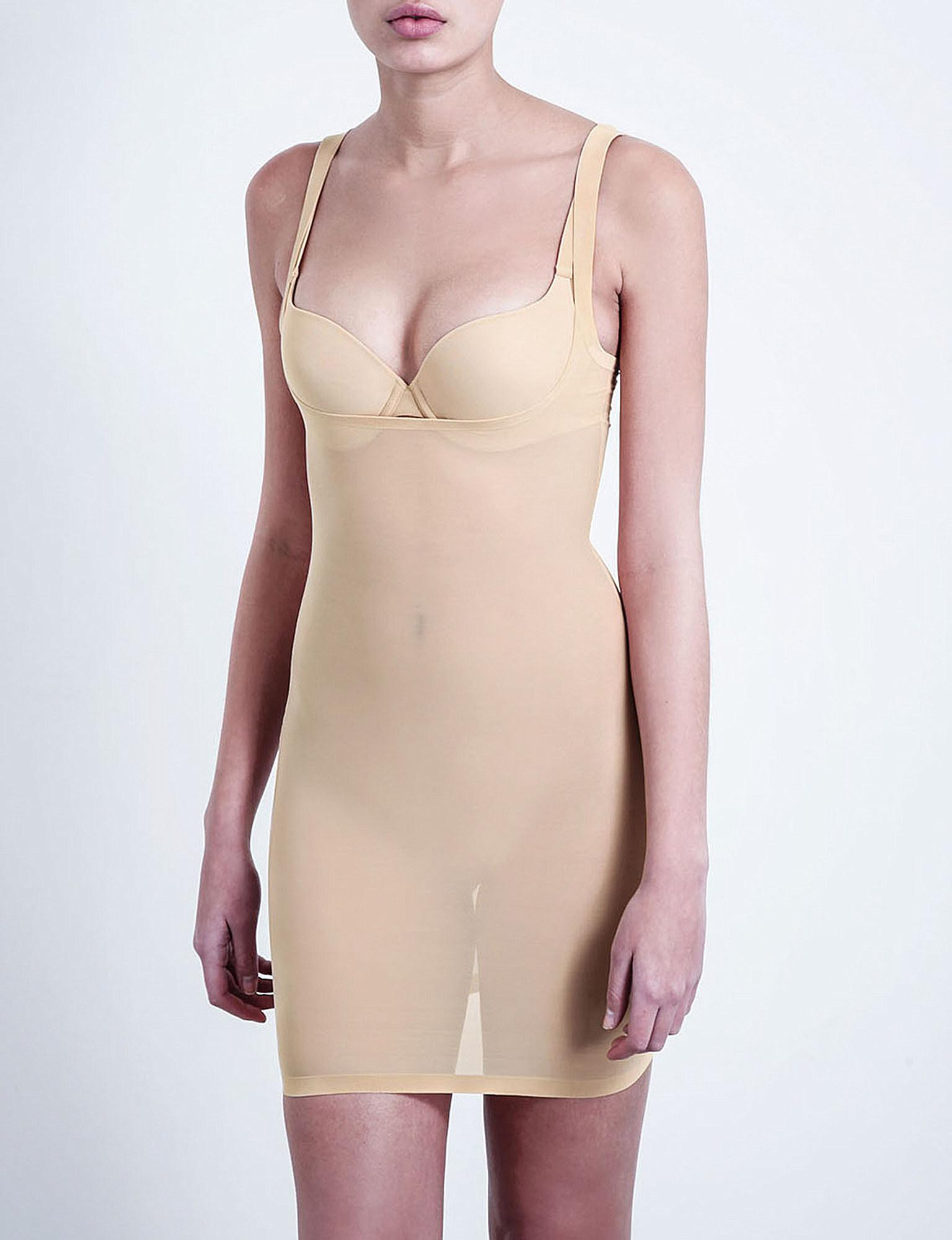 5429dadcb5 Lyst - Wolford Tulle Forming Dress in Natural