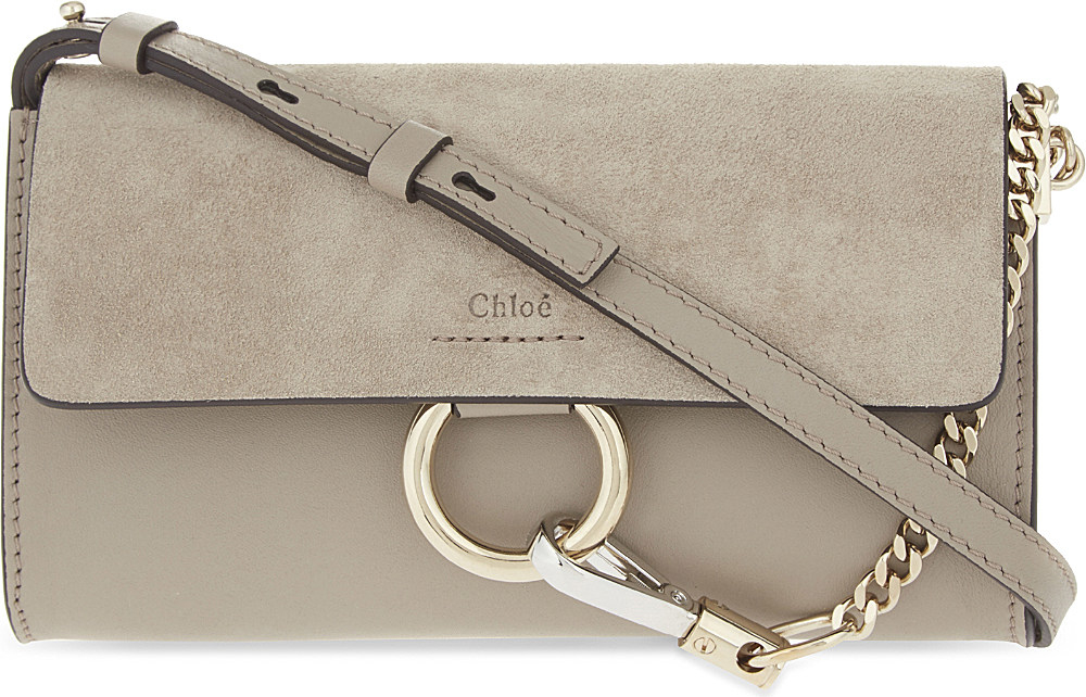 498c815df90ac Chloe Faye Leather Wallet On Chain