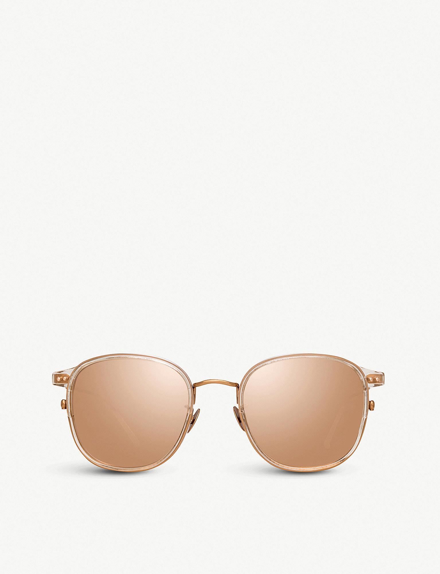166b7026379 Linda Farrow. Women s Metallic 803 C3 Rose Gold-plated Titanium And Acetate  Square Sunglasses
