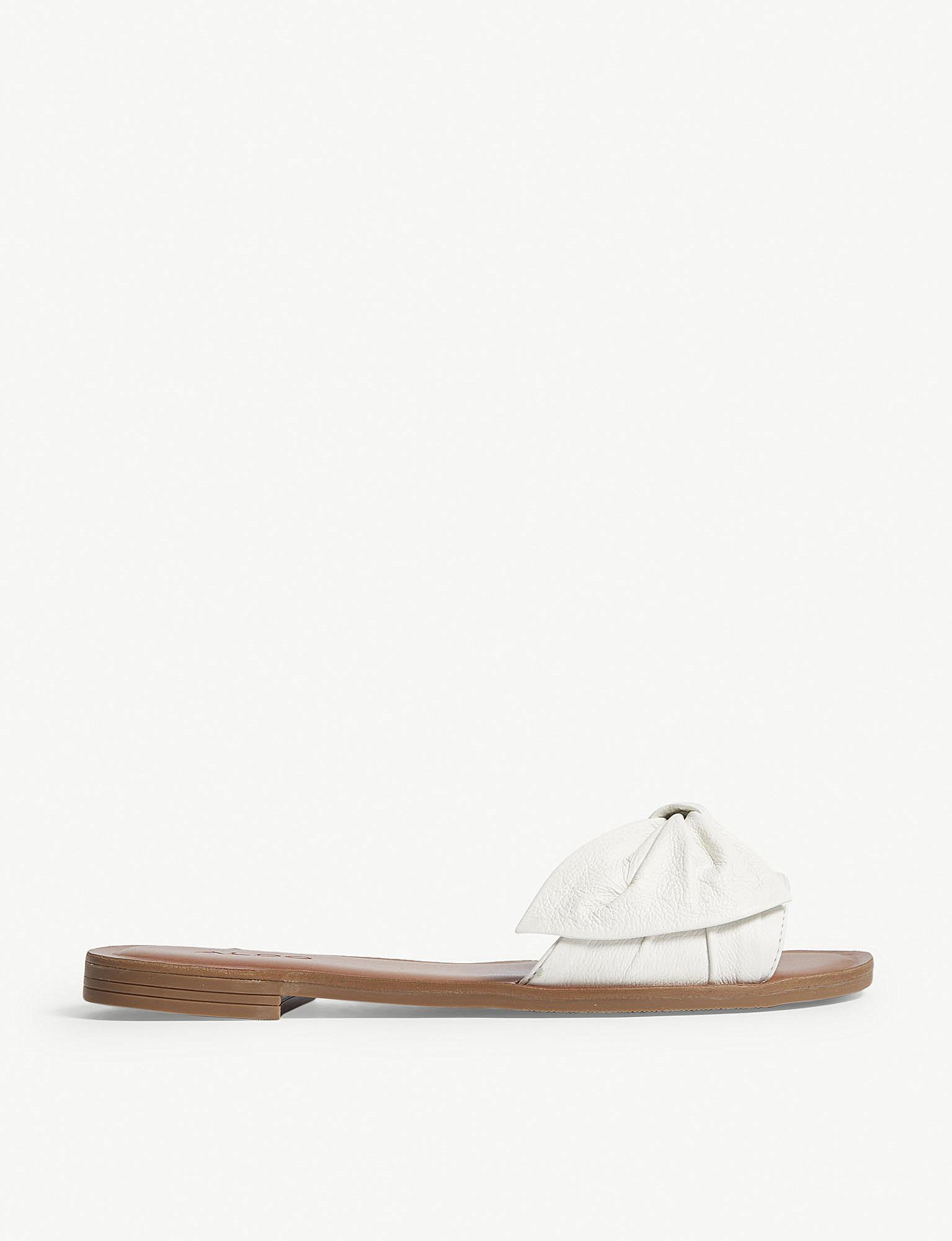 c1d5d3e9be9b ALDO Enroelia Flat Sandals in White - Lyst