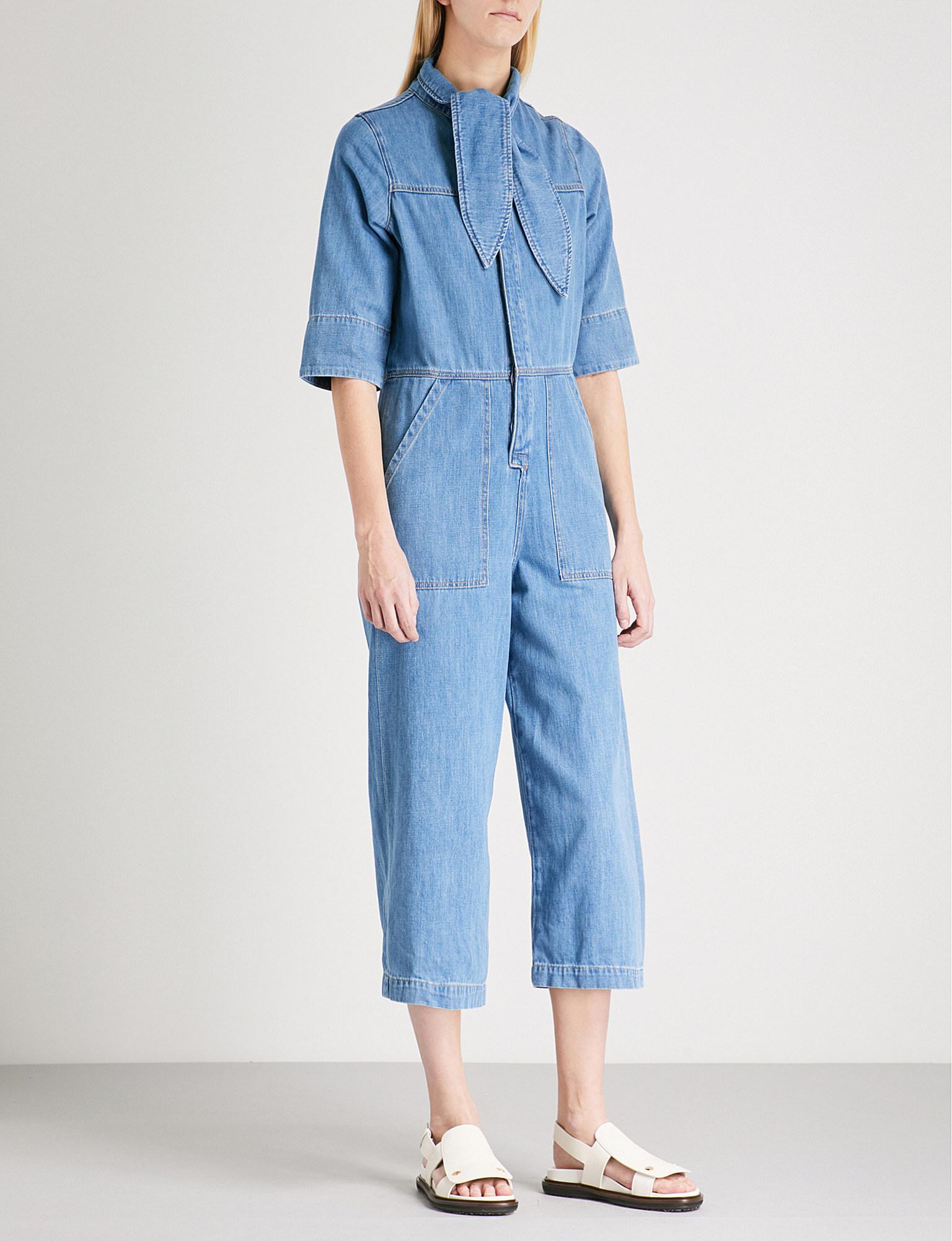 5b8b86f5149 Lyst - M.i.h Jeans Calman Denim Jumpsuit in Blue