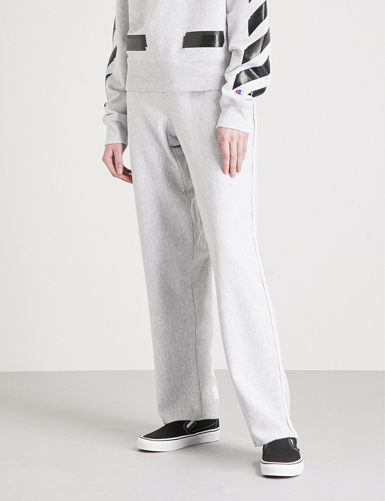 645690f5 Off-White c/o Virgil Abloh Champion Cotton-blend Jogging Bottoms in ...