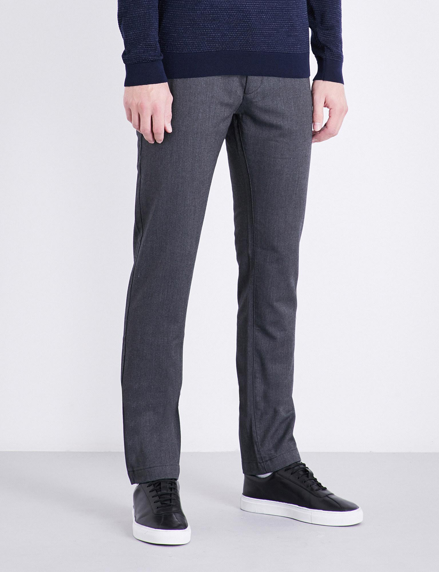 Slim-fit trousers in a mélange cotton blend BOSS wEQm89DD