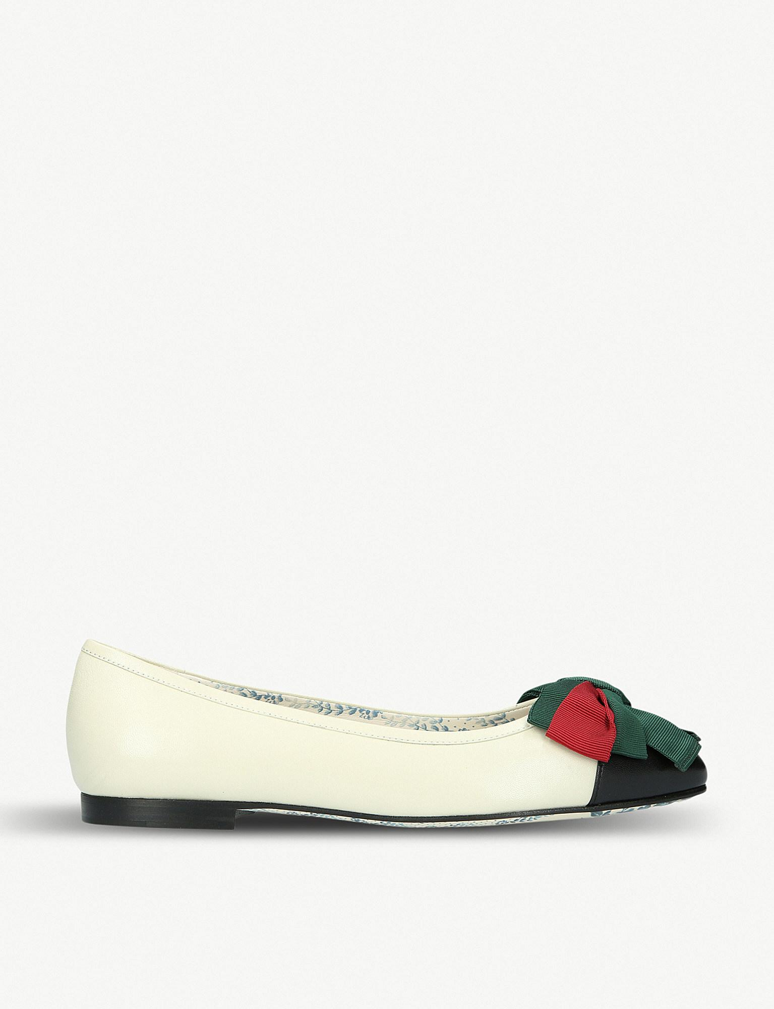 Gucci Ballet pumps calfskin smooth leather Rivets rose LZ4OeFUqz