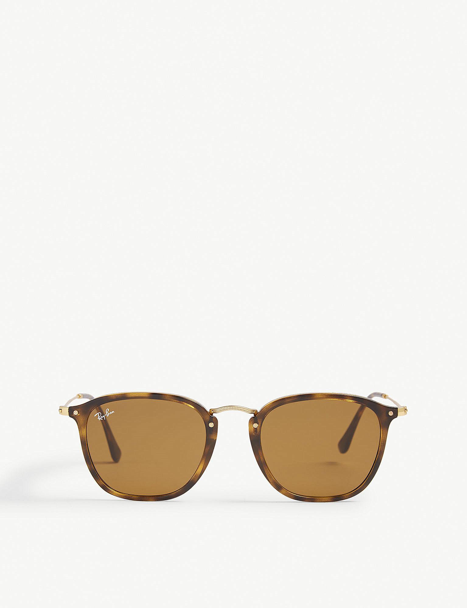 808c4411ecffa Lyst - Ray-Ban Havana Rb2448n Square-frame Sunglasses in Brown