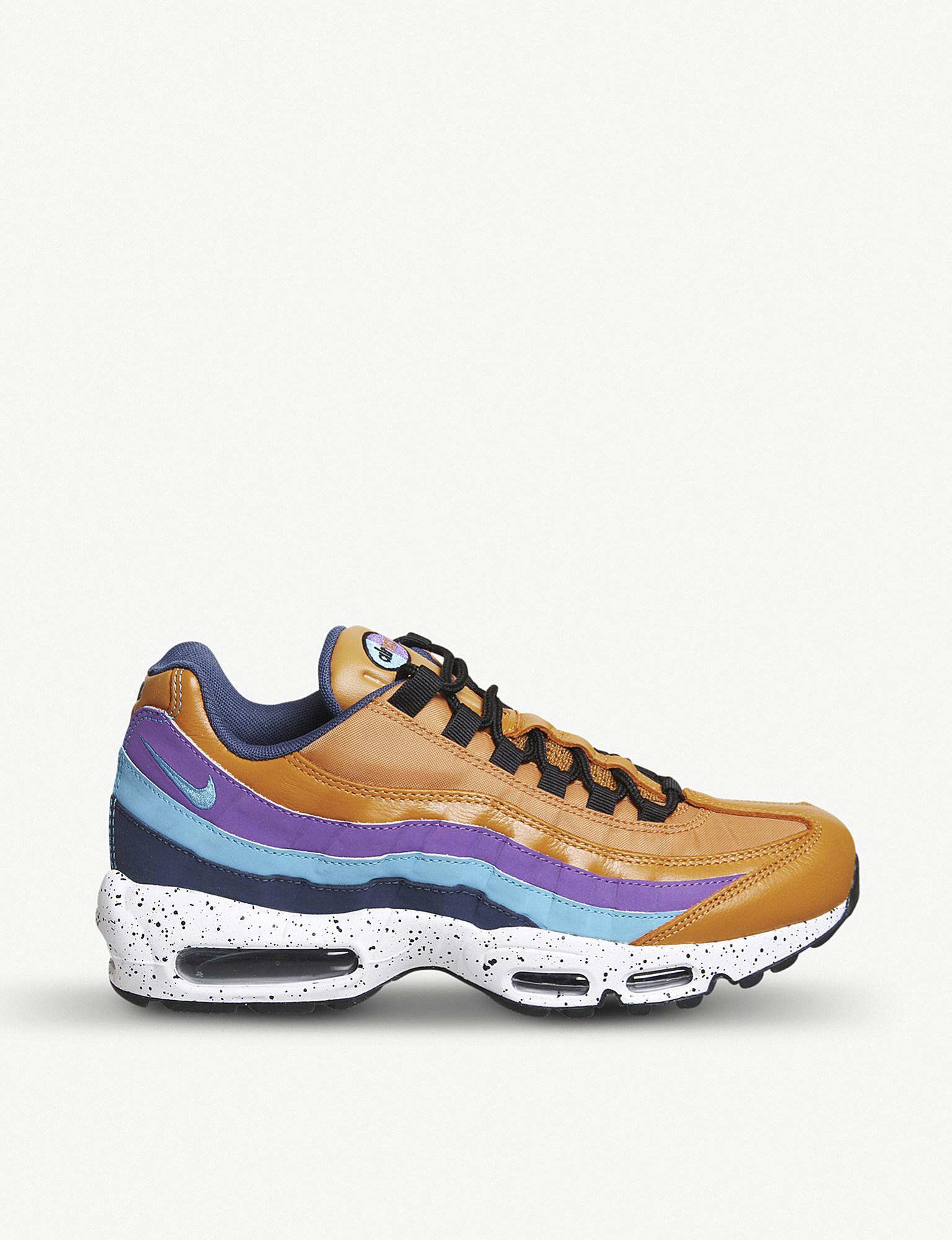 Cheap Men's Nike Air Max 95 Shoes CreamWhiteYellowRed