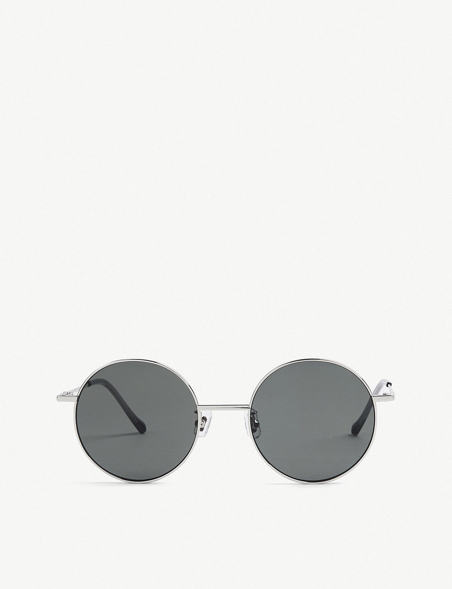 97c551bf9e7 Lyst - Gentle Monster Midnight Sun Tinted Round-frame Sunglasses in ...