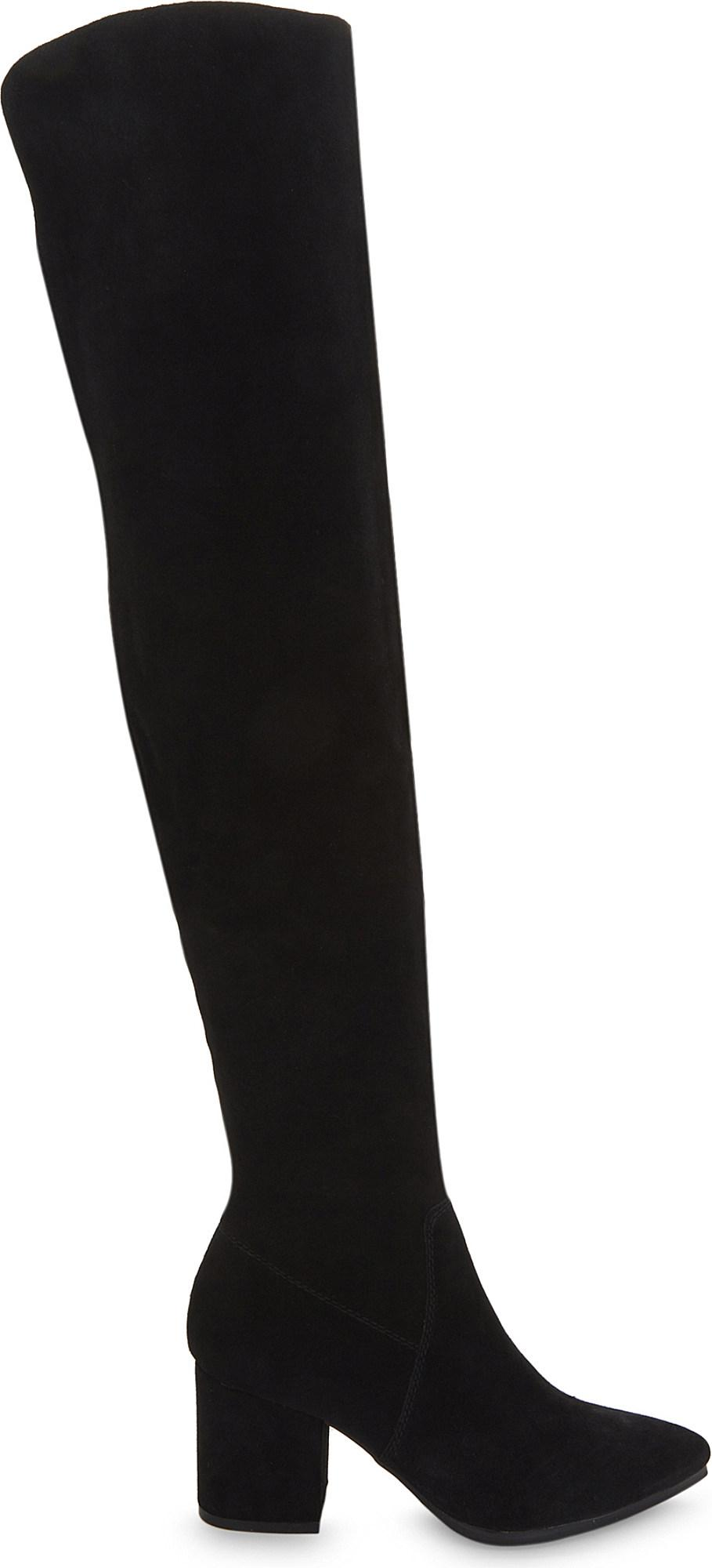 09c368ac442 Lyst - ALDO Iboewet Suede Over-the-knee Boots in Black