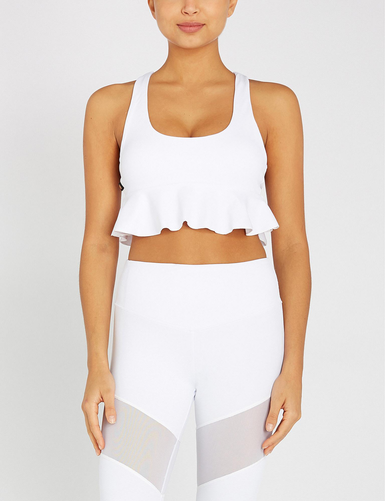 1627f48191 Lyst - L urv Just For Frills Stretch-jersey Sports Bra in White