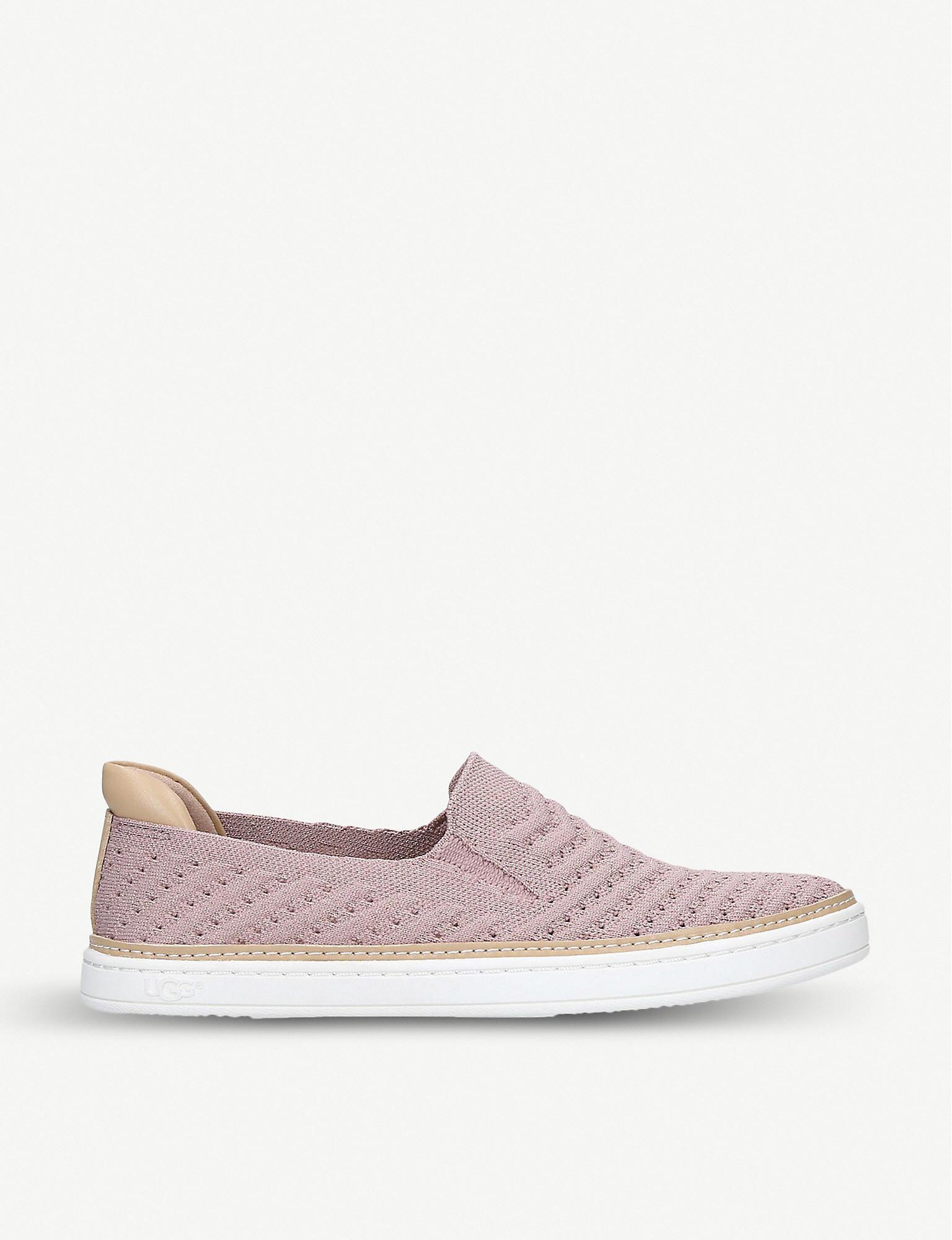 0541542c14d Ugg - Pink Sammy Chevron-knit Trainers - Lyst