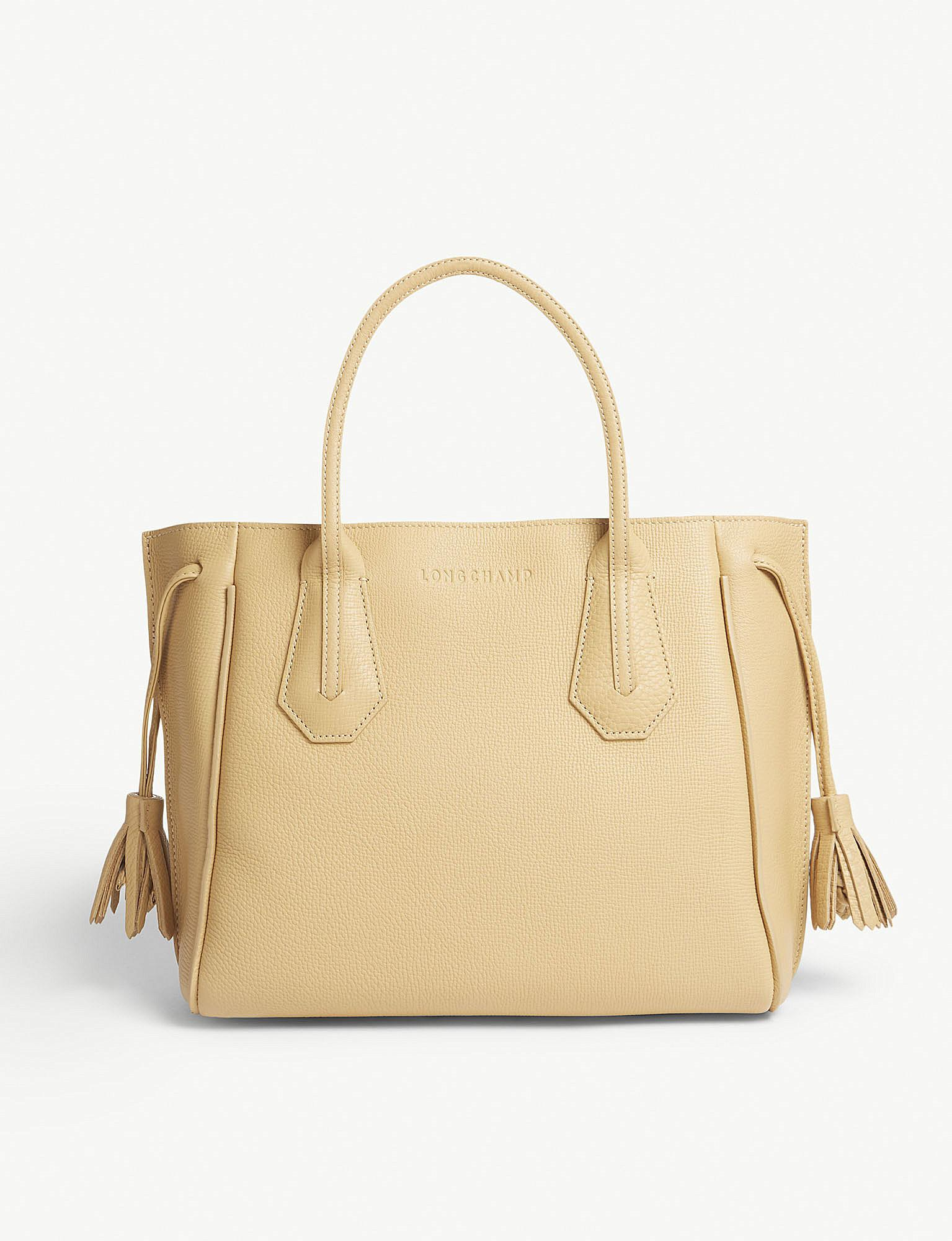 Longchamp Penelope Soft Leather Tote Bag In Natural Lyst