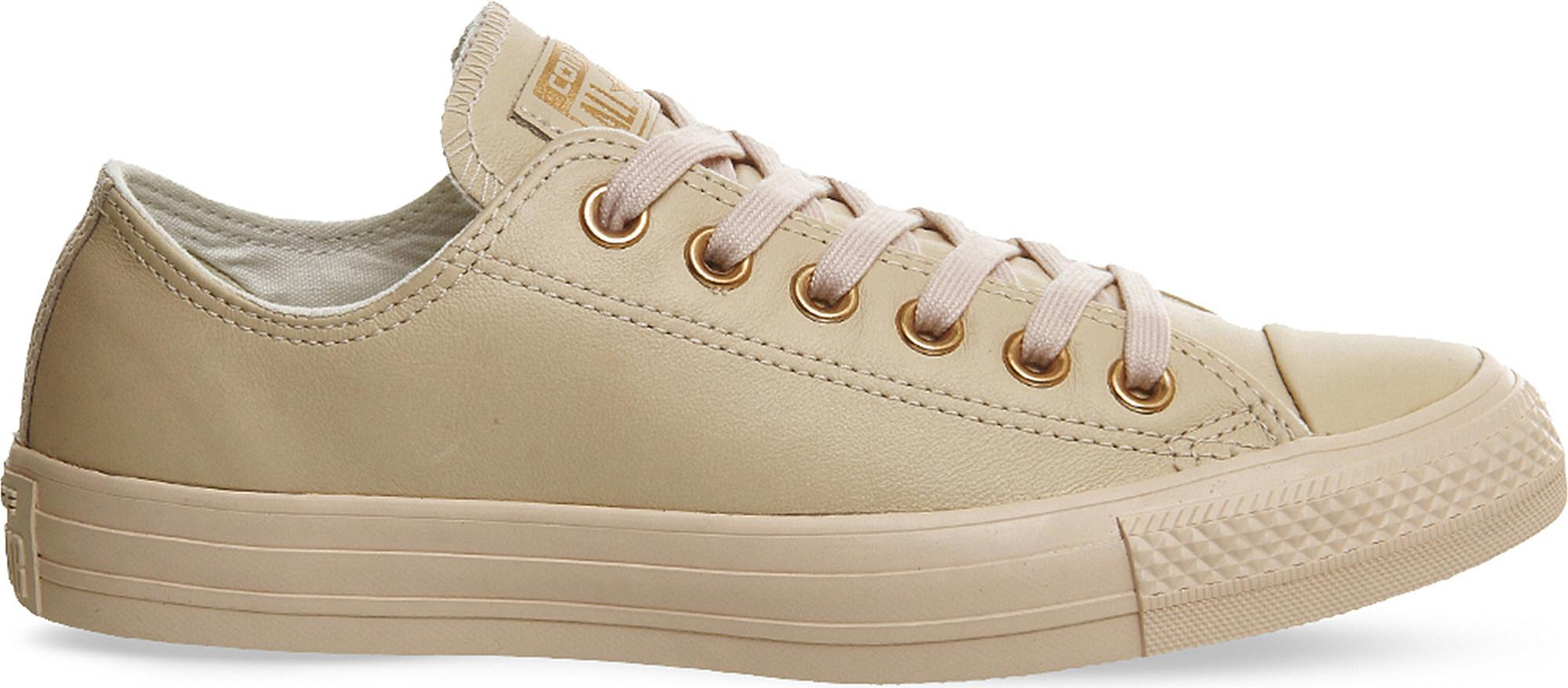 converse all star beige leather