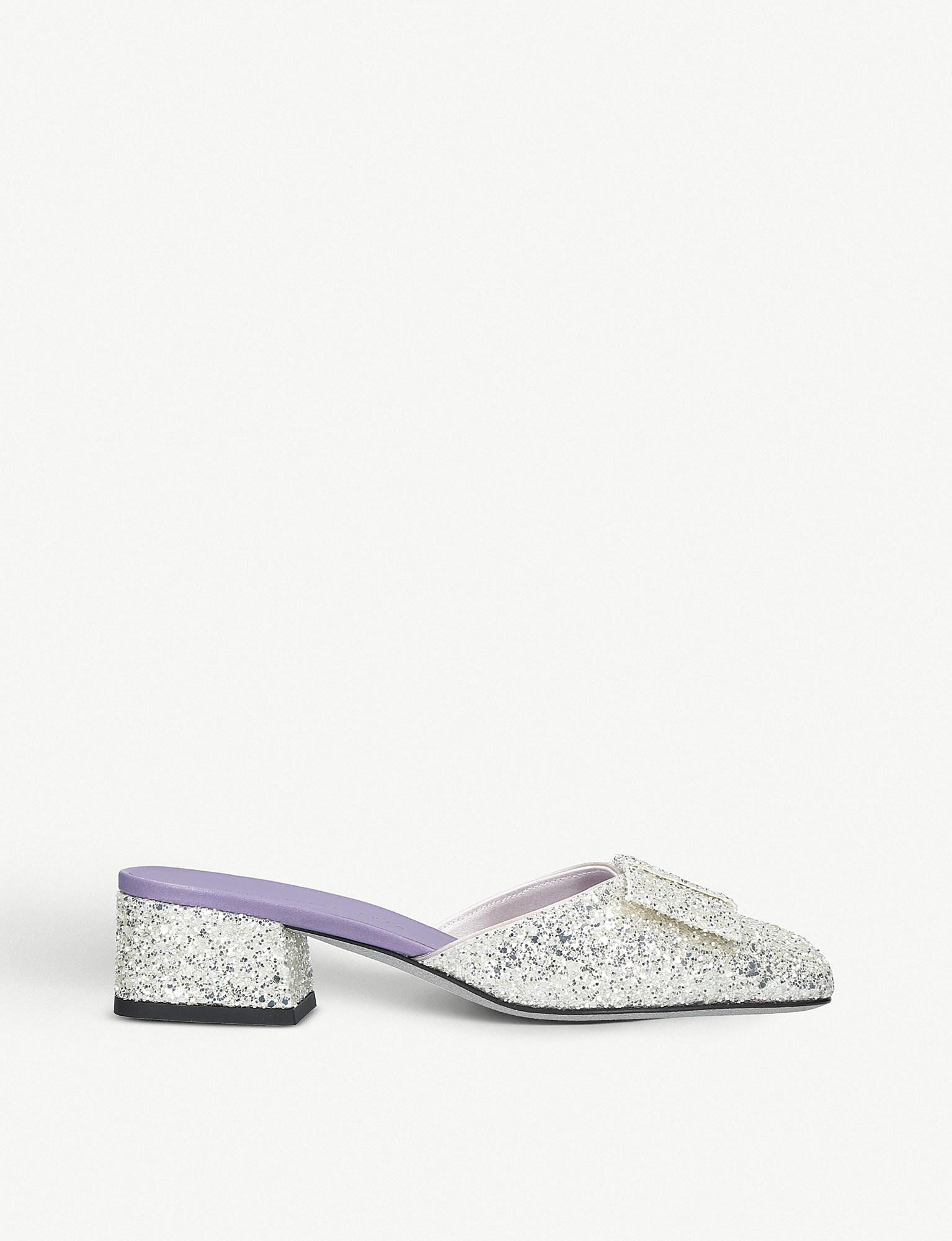 Recommend Online Victoria Beckham Harper glitter mules Discount Pre Order View Clearance With Credit Card For Sale CtUHC4g