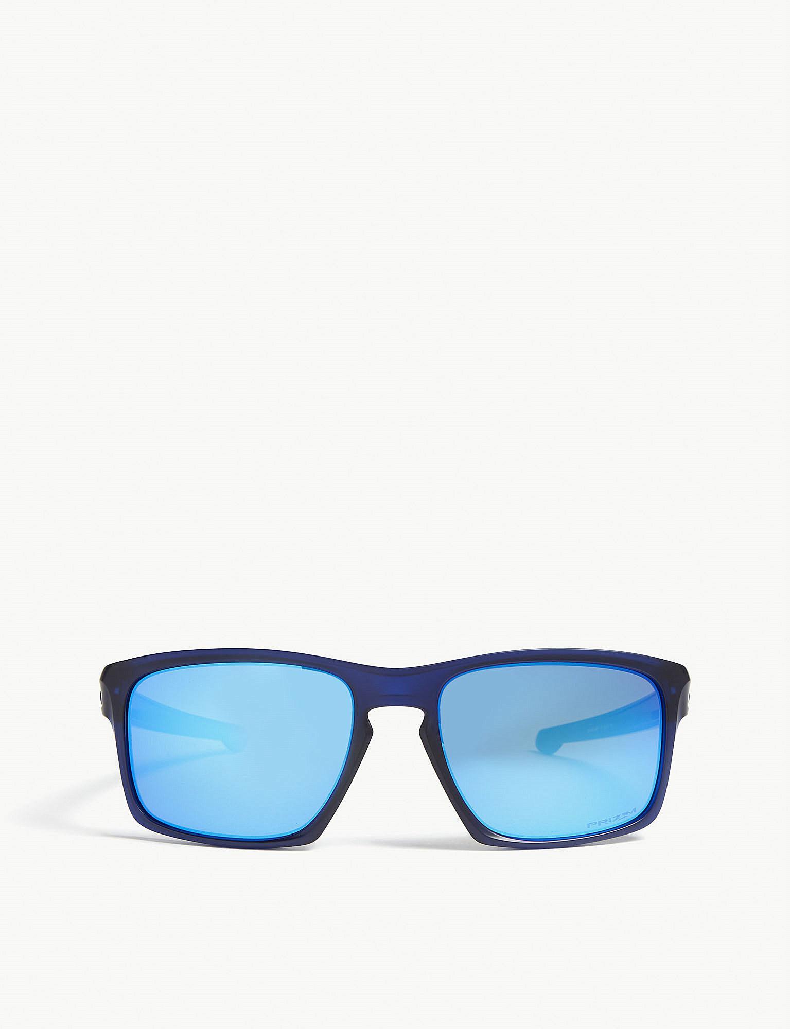 f54c51ac1946b Lyst - Oakley Sliver Rectangle-frame Sunglasses in Blue for Men