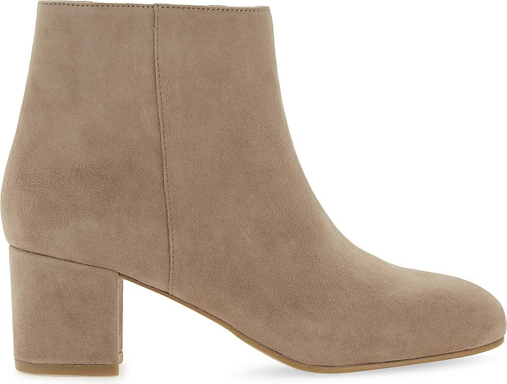 aldo ciredia suede heeled ankle boots in lyst
