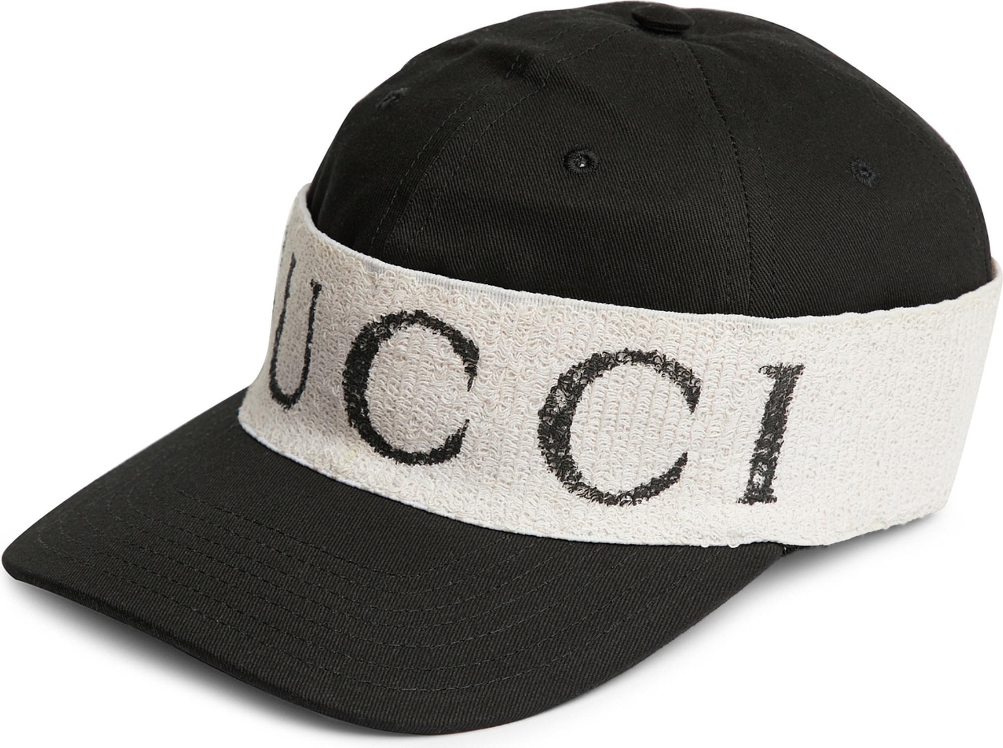 94b24cfb1904c Gucci Headband-detail Gabardine Baseball Cap in Black for Men - Lyst