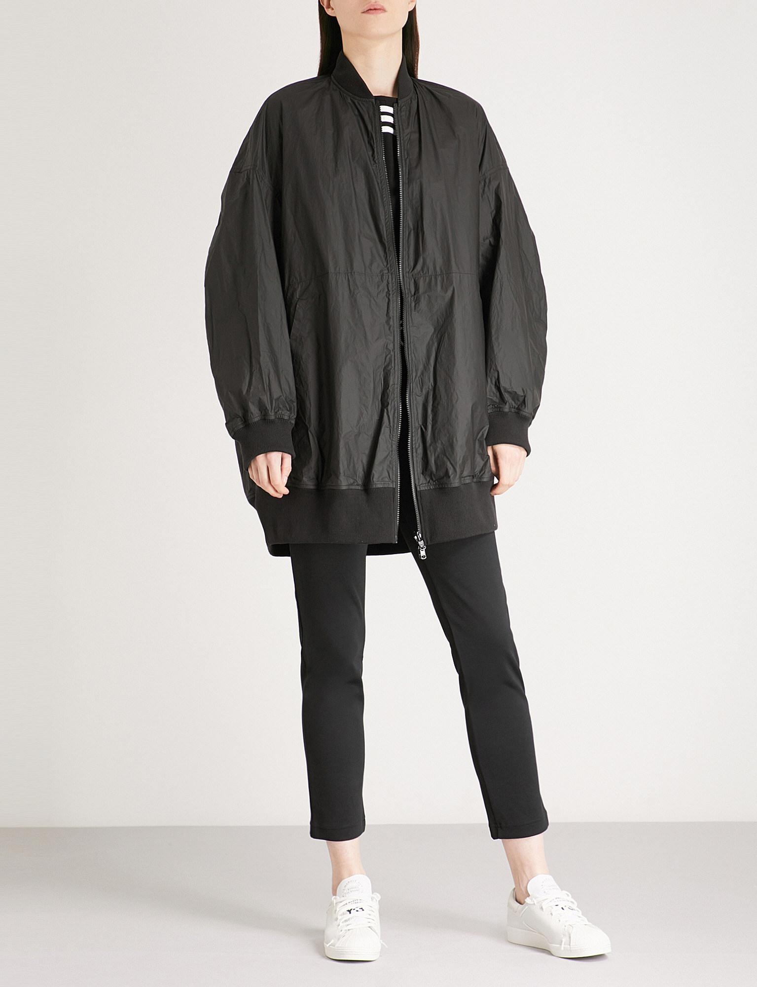 a6d069ffc Lyst - Y-3 Logo-print Reversible Shell Bomber Jacket in Black