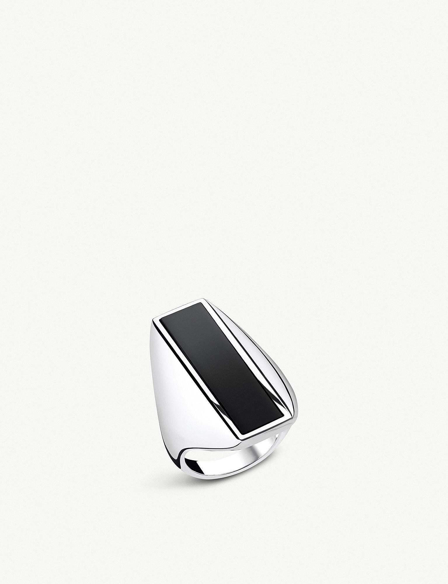 af7084387607 Thomas Sabo Heritage Sterling Silver And Onyx Ring in Metallic - Lyst
