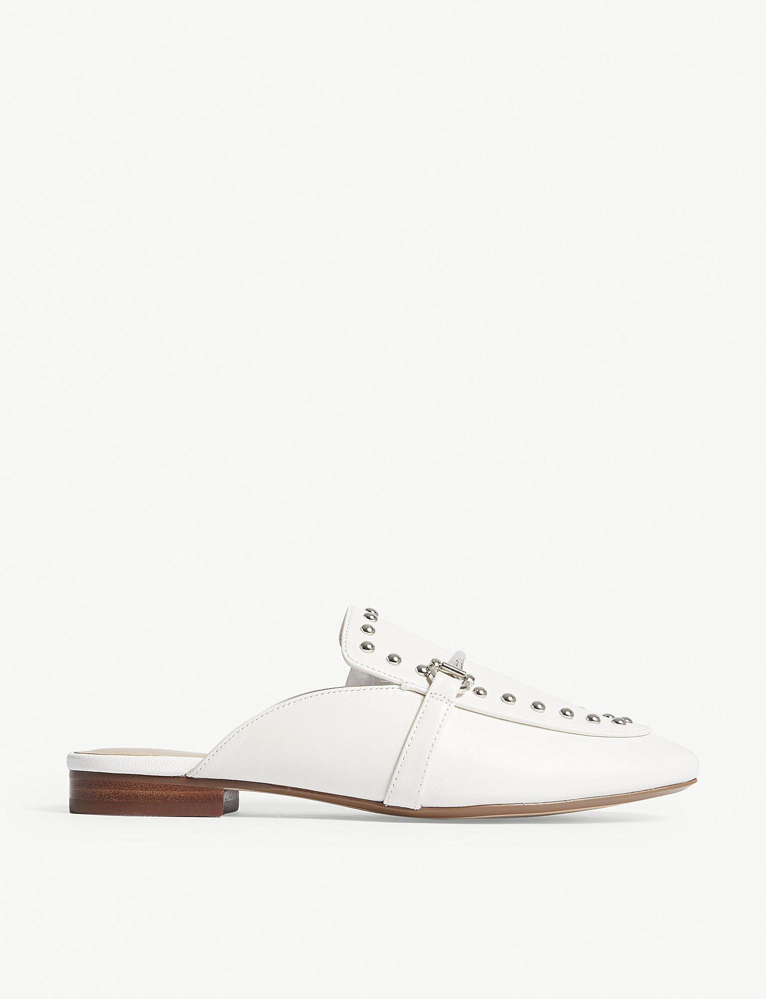 72f43c49526 ALDO Vergemoli Studded Suede Loafers in White - Lyst