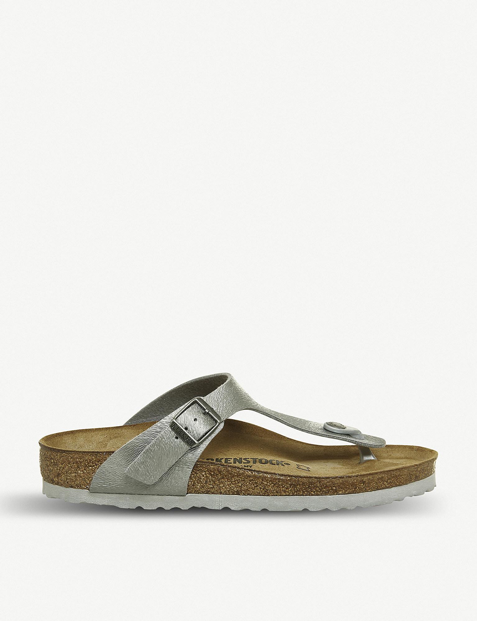 84751befc Lyst - Birkenstock Gizeh Bf Womens Sandals in Gray
