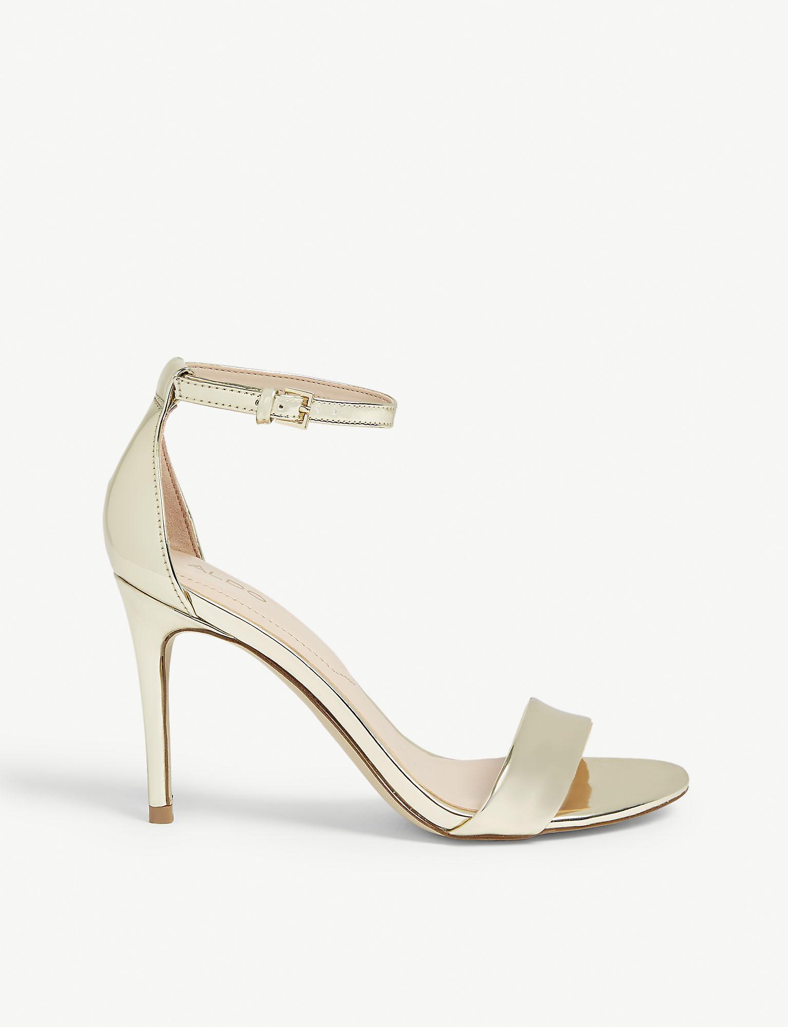 c721cb23f ALDO Cally Patent Sandals in Metallic - Lyst