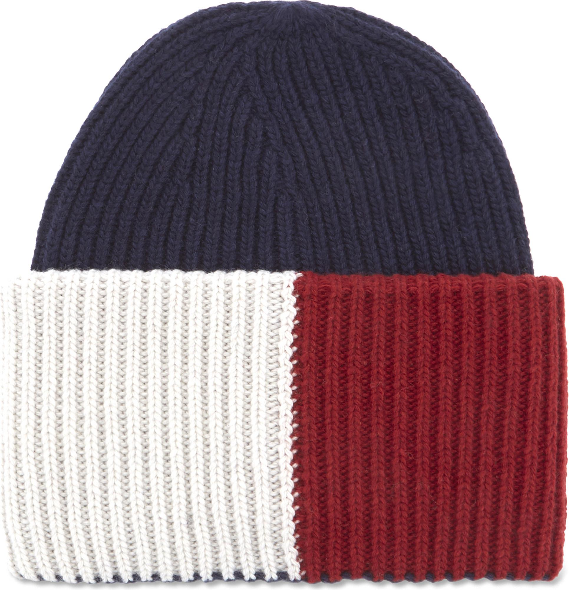 Lyst - Tommy Hilfiger Oversized Wool-blend Beanie Hat in Blue for Men 91914590035