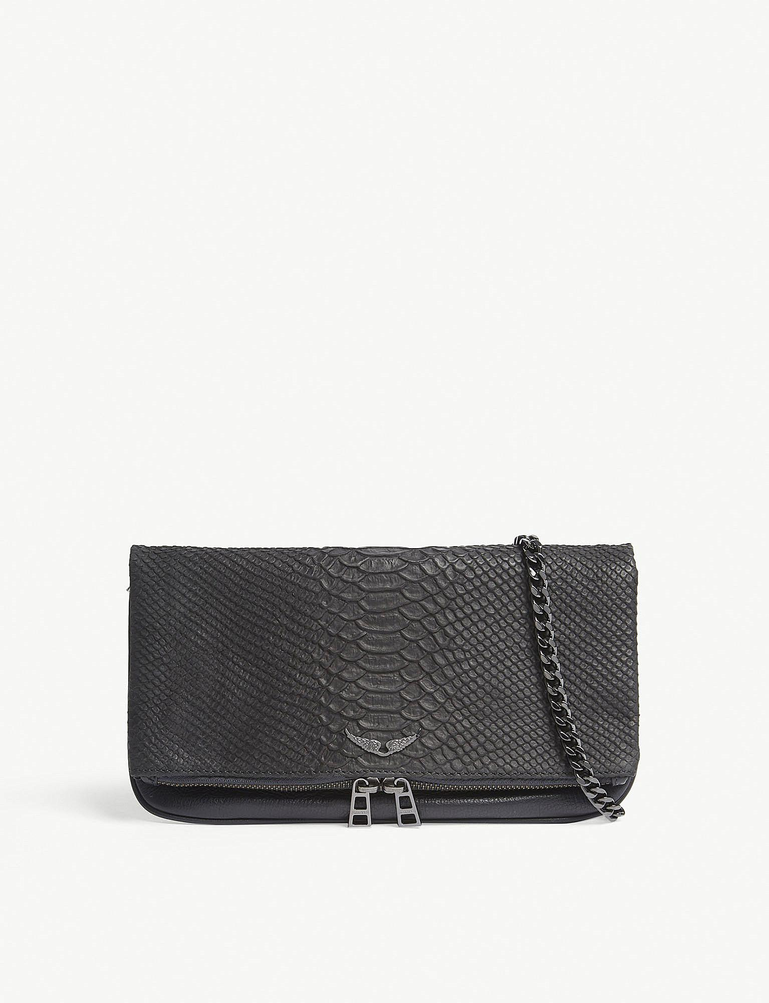39814a2400c Lyst - Zadig   Voltaire Noir Black Bags Rock Savage Cross Body Bag ...