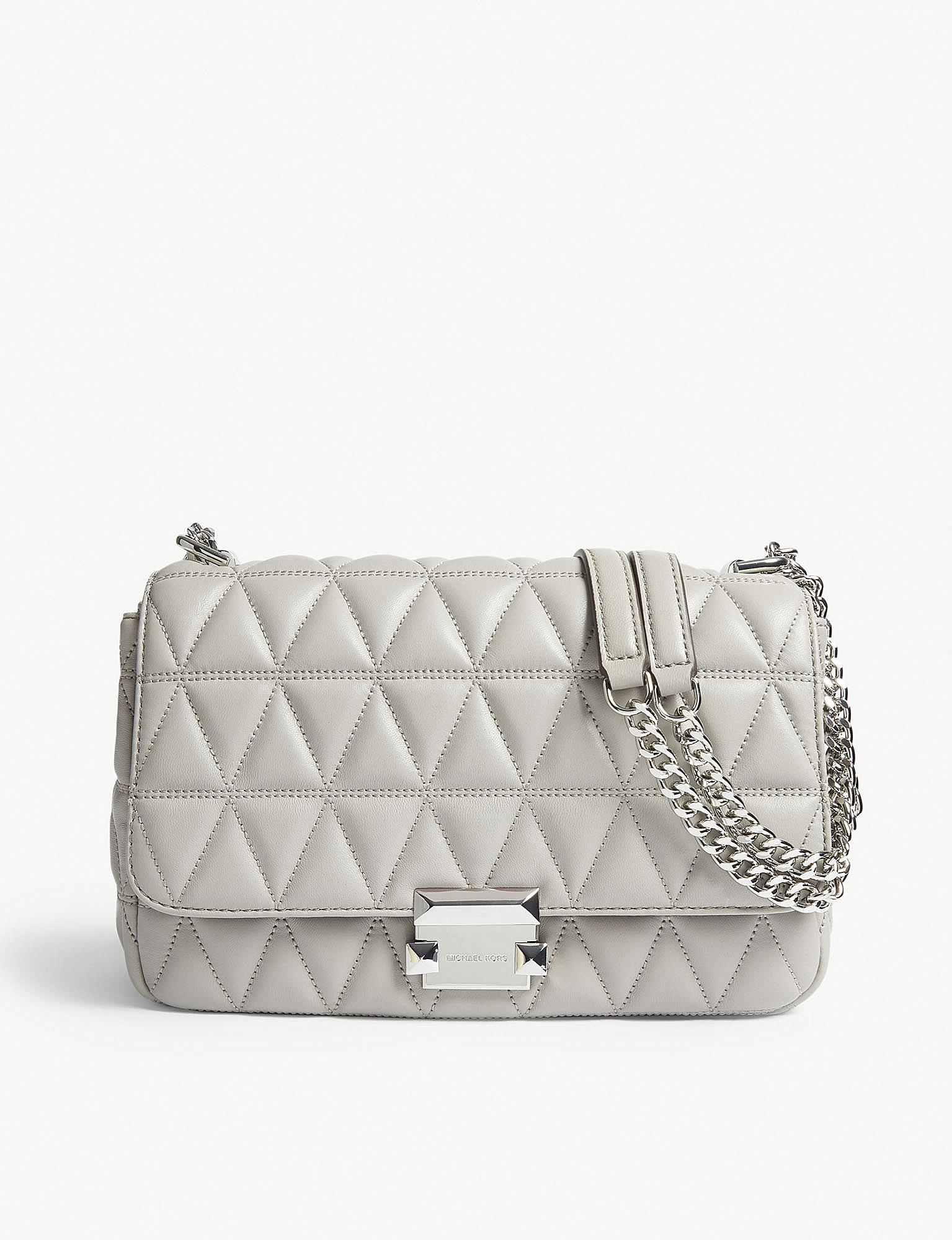 bdcffc4df6e0 MICHAEL Michael Kors. Women s Gray Michael Kors Ladies Pearl Grey Timeless Sloan  Quilted Shoulder Bag
