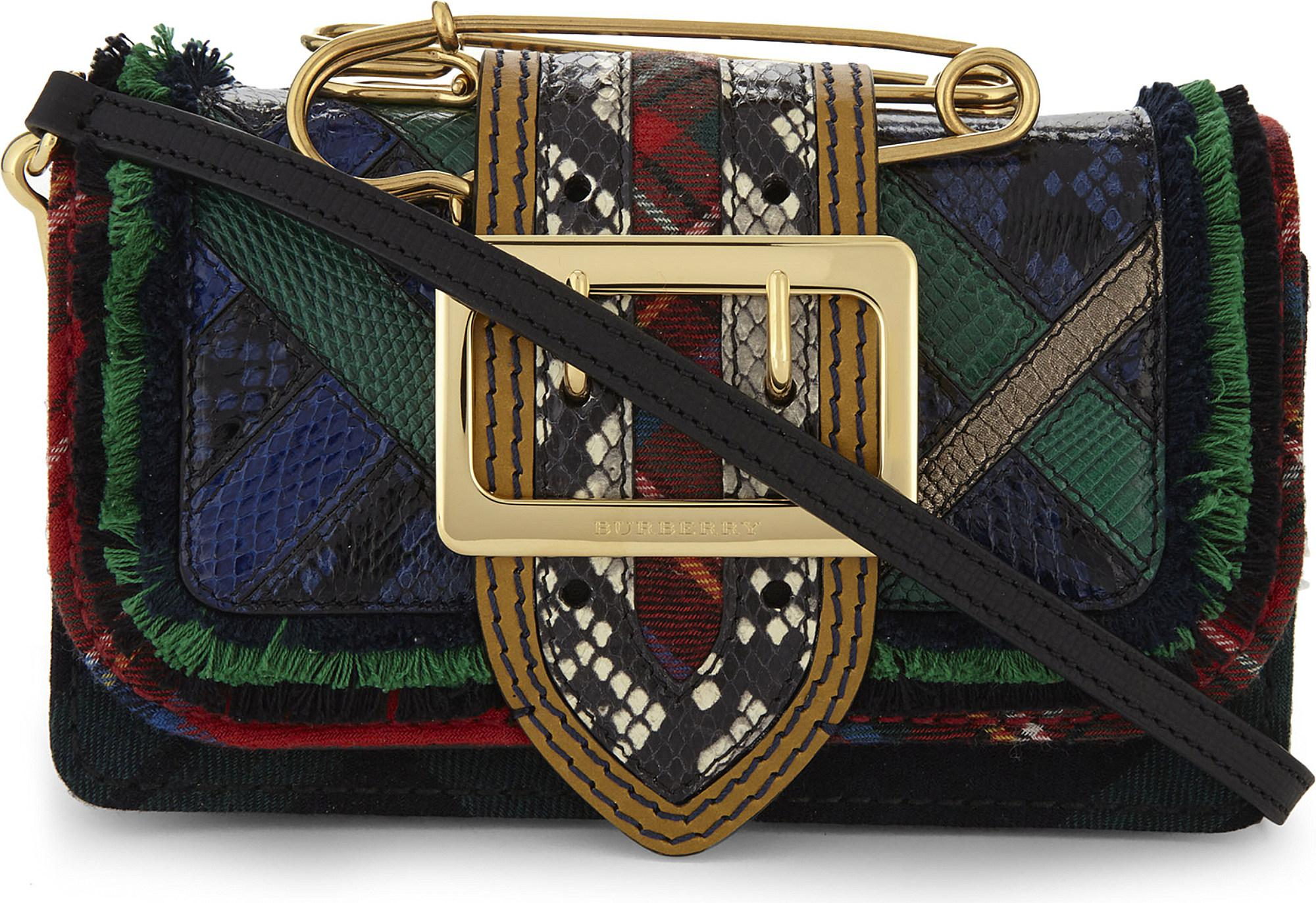 Burberry Buckle Patchwork Leather Shoulder Bag - Lyst bfda0007fc74f