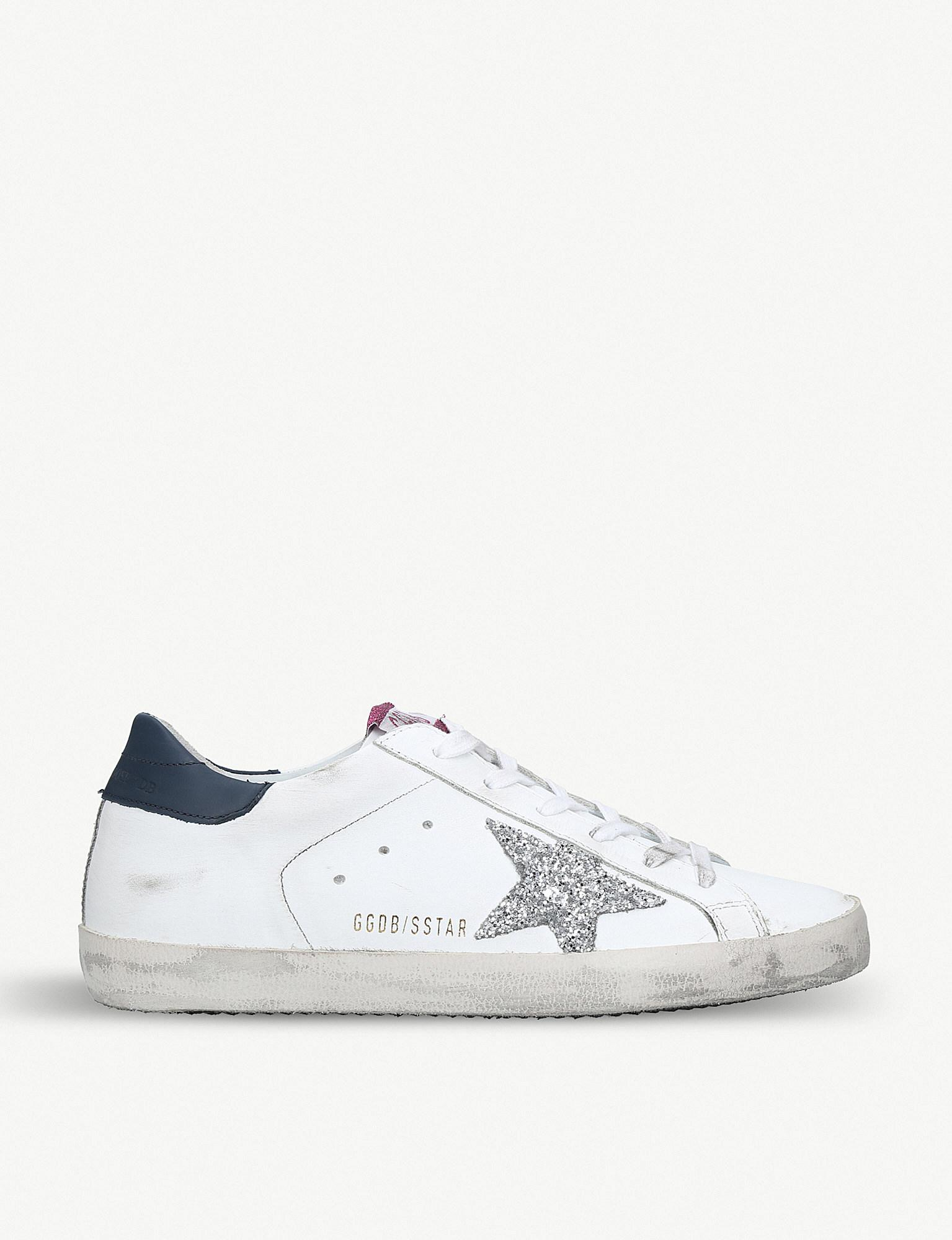 872262856 Golden Goose Deluxe Brand Superstar L72 Glittered Leather Trainers ...