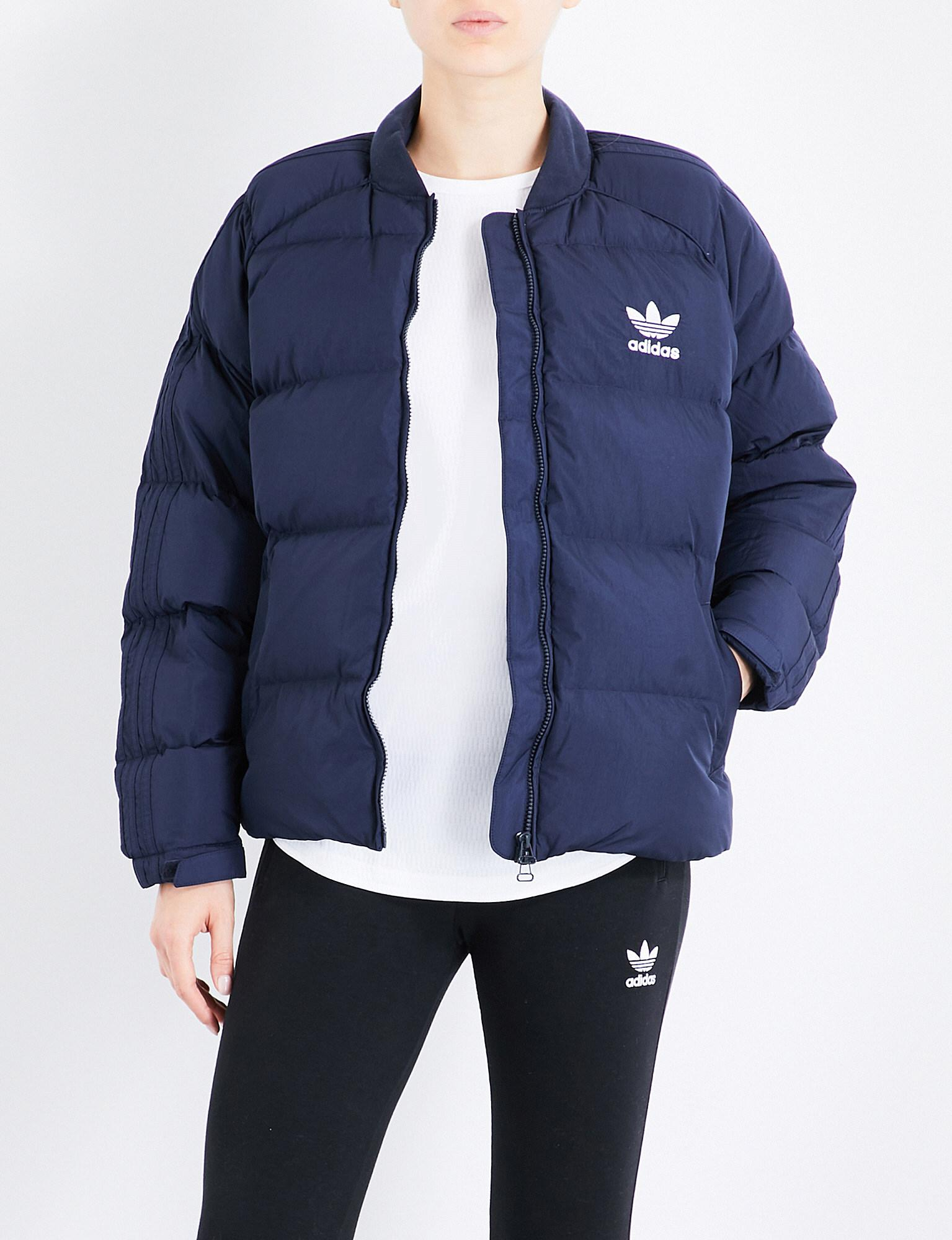 Adidas down jacket blue