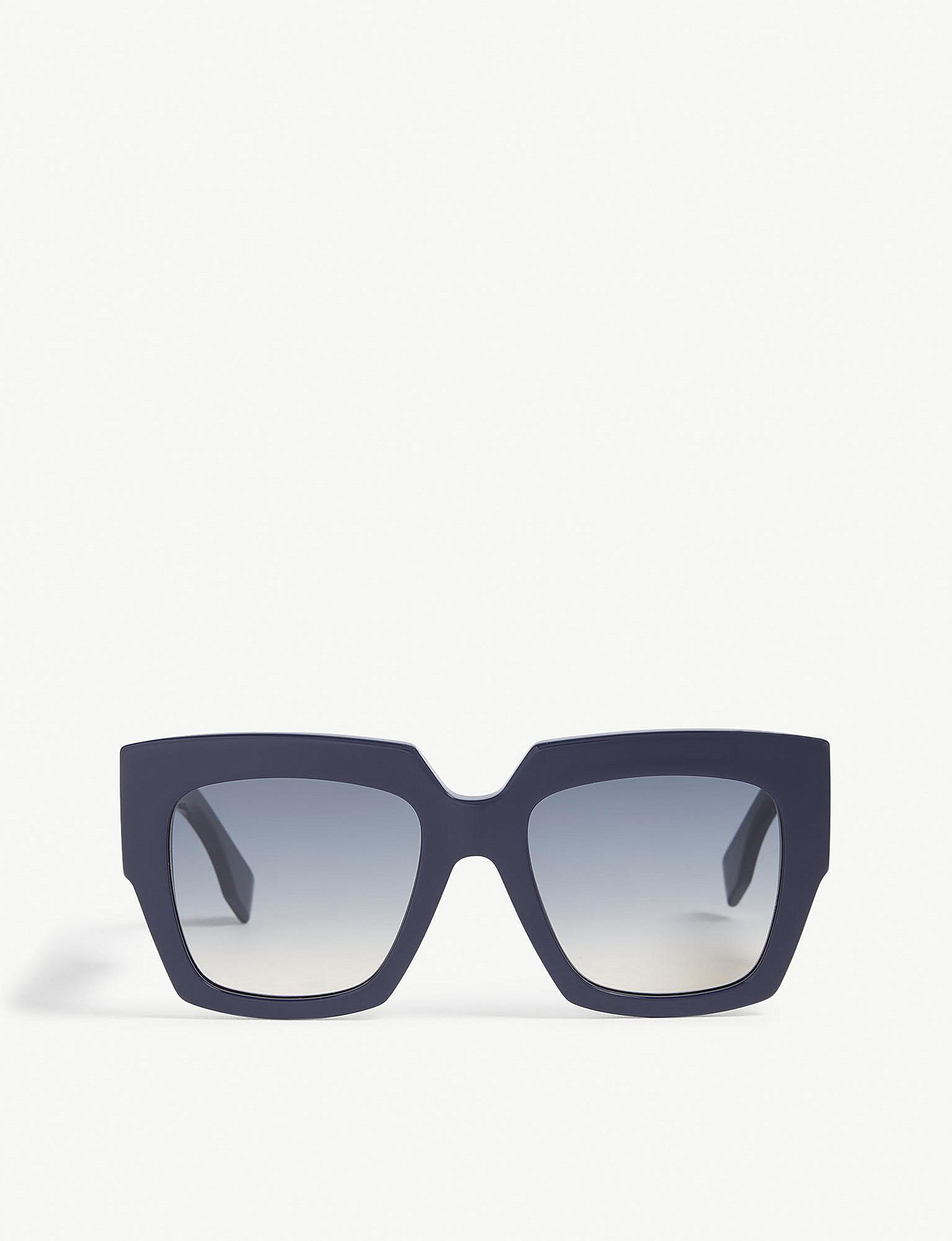 9013b4d38da5 Fendi Ff0263 Square-frame Sunglasses in Blue - Lyst
