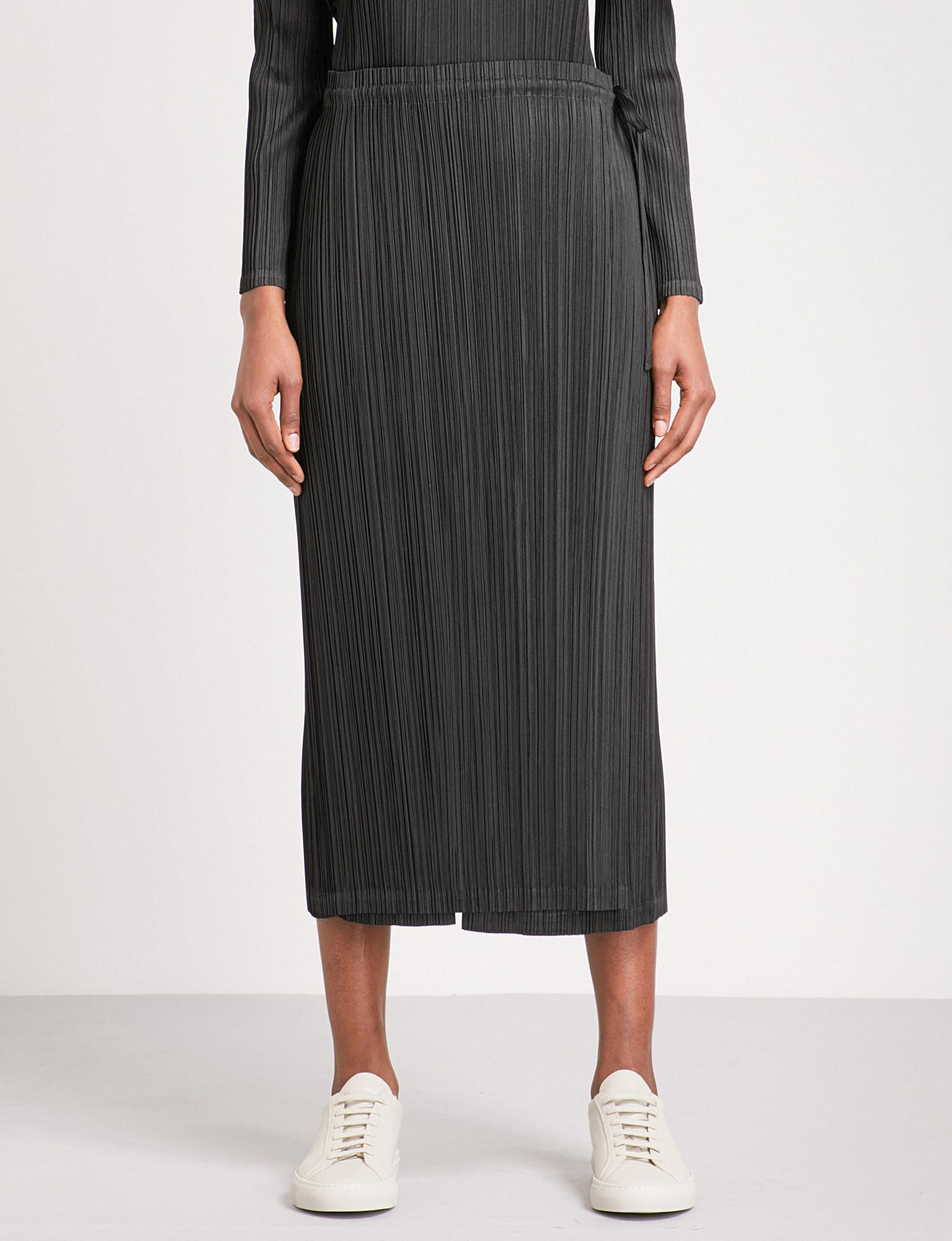 13fc44daaa Pleats Please Issey Miyake Skirt-panel Wide Cropped High-rise ...