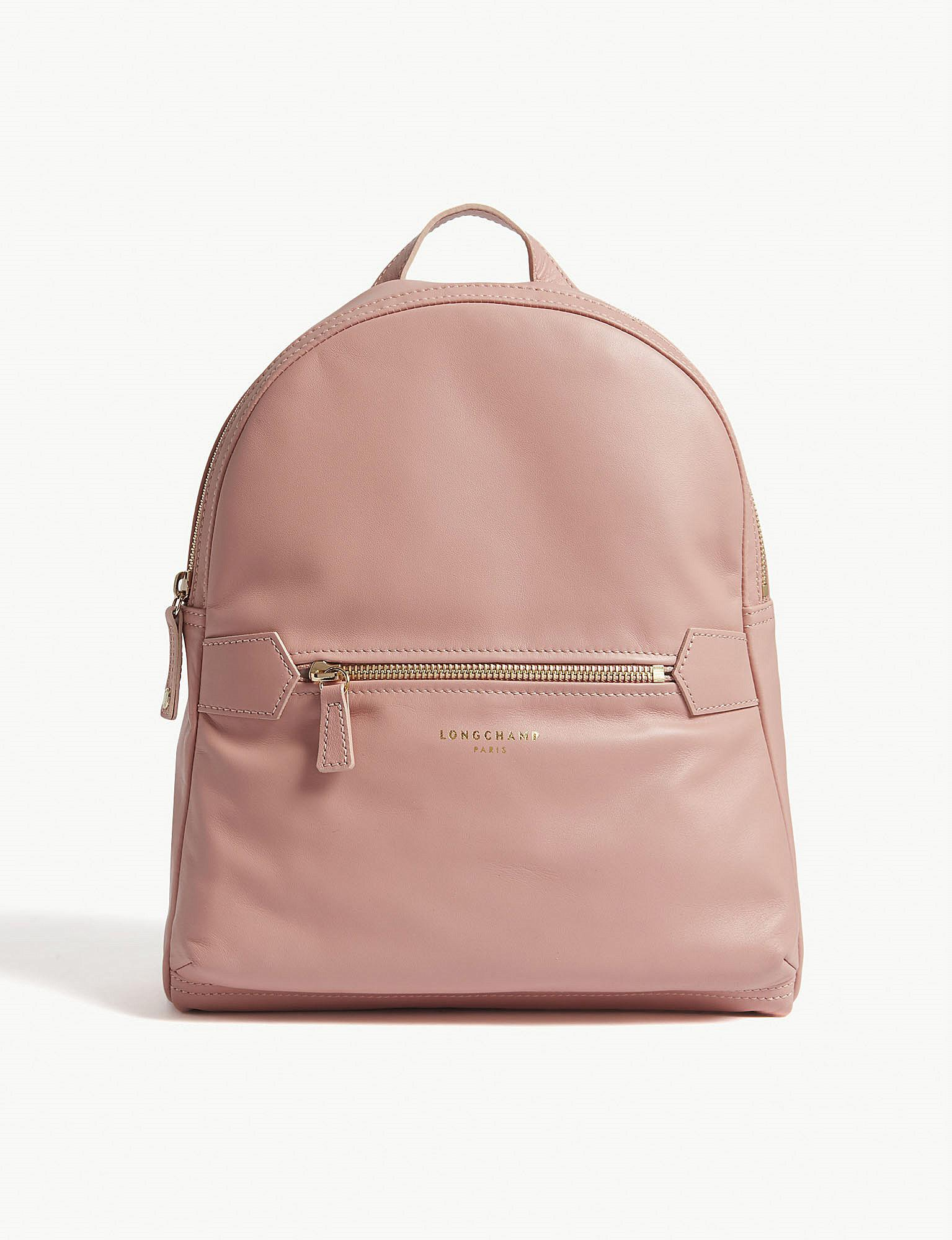 d2937d5cc68d Longchamp 2.0 Medium Leather Backpack in Pink - Lyst