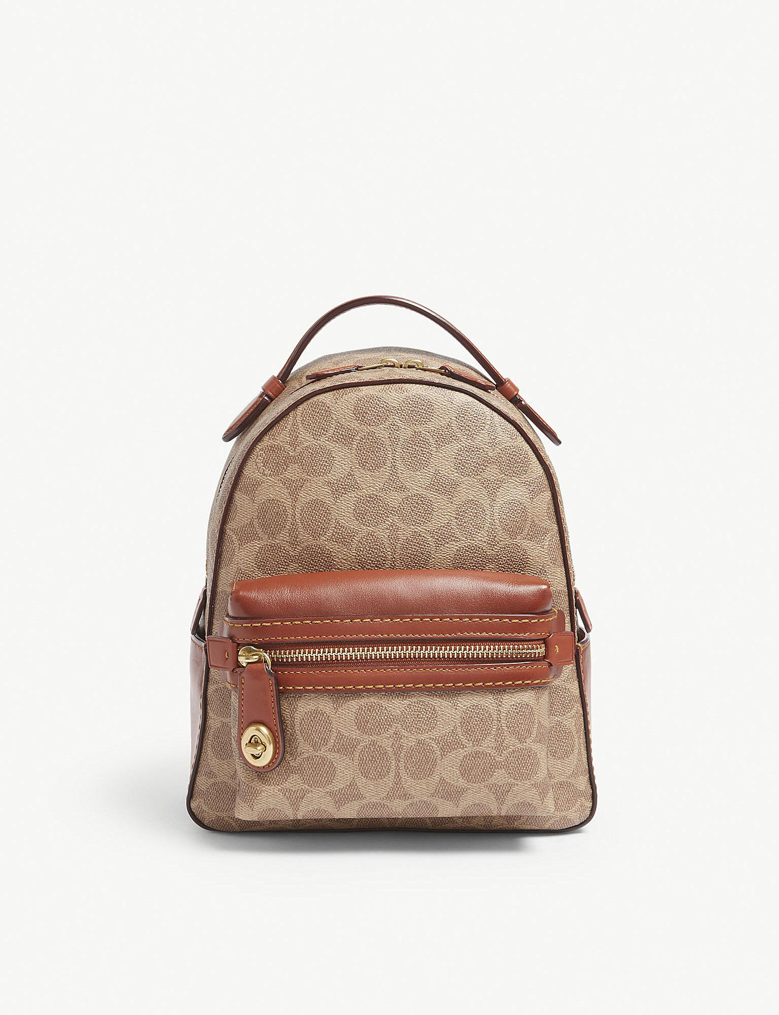 1c22458ae7b5 Lyst - COACH Campus Glovetanned Leather Backpack in Brown - Save 26%