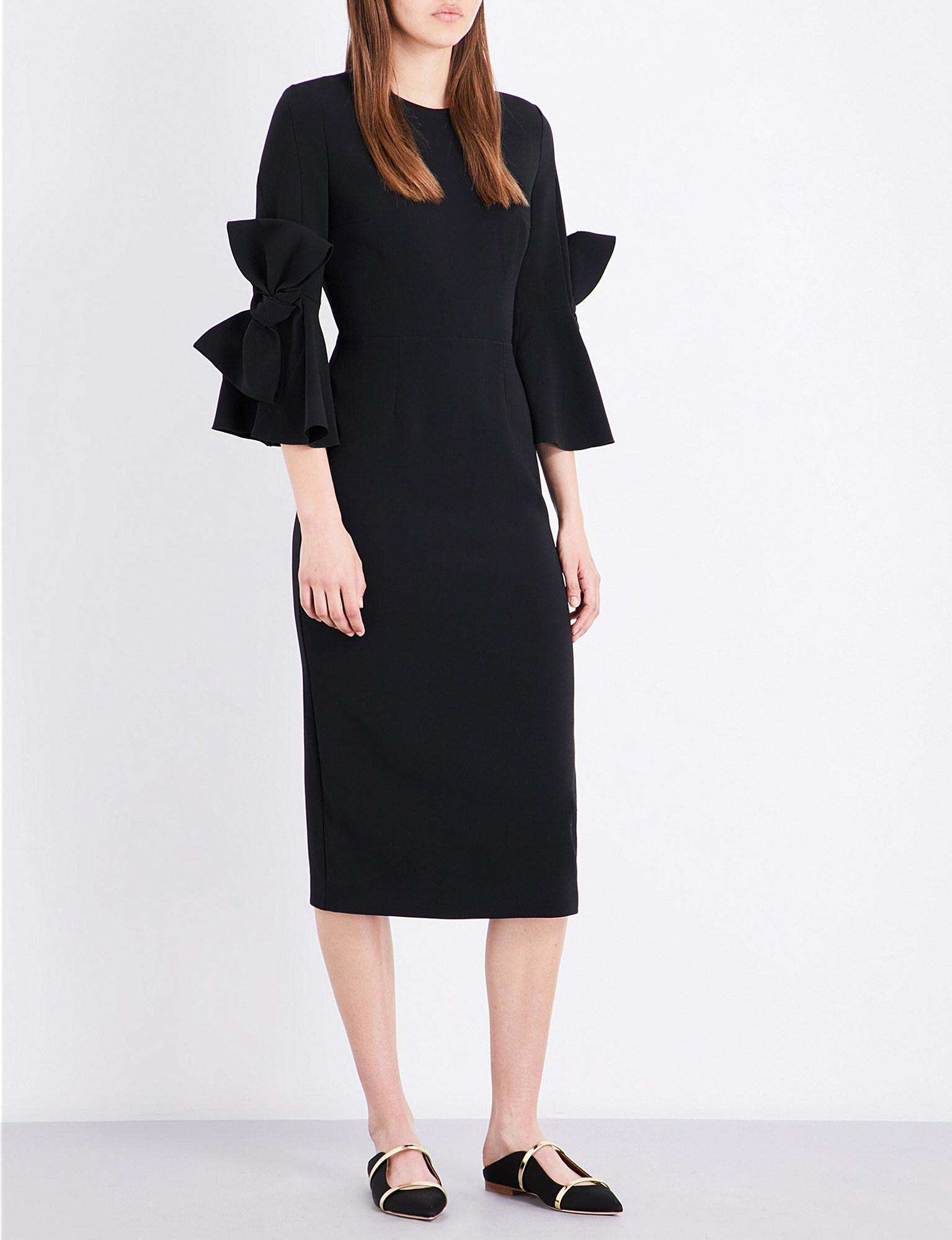 Aylin bell-cuff stretch-crepe dress Roksanda Ilincic