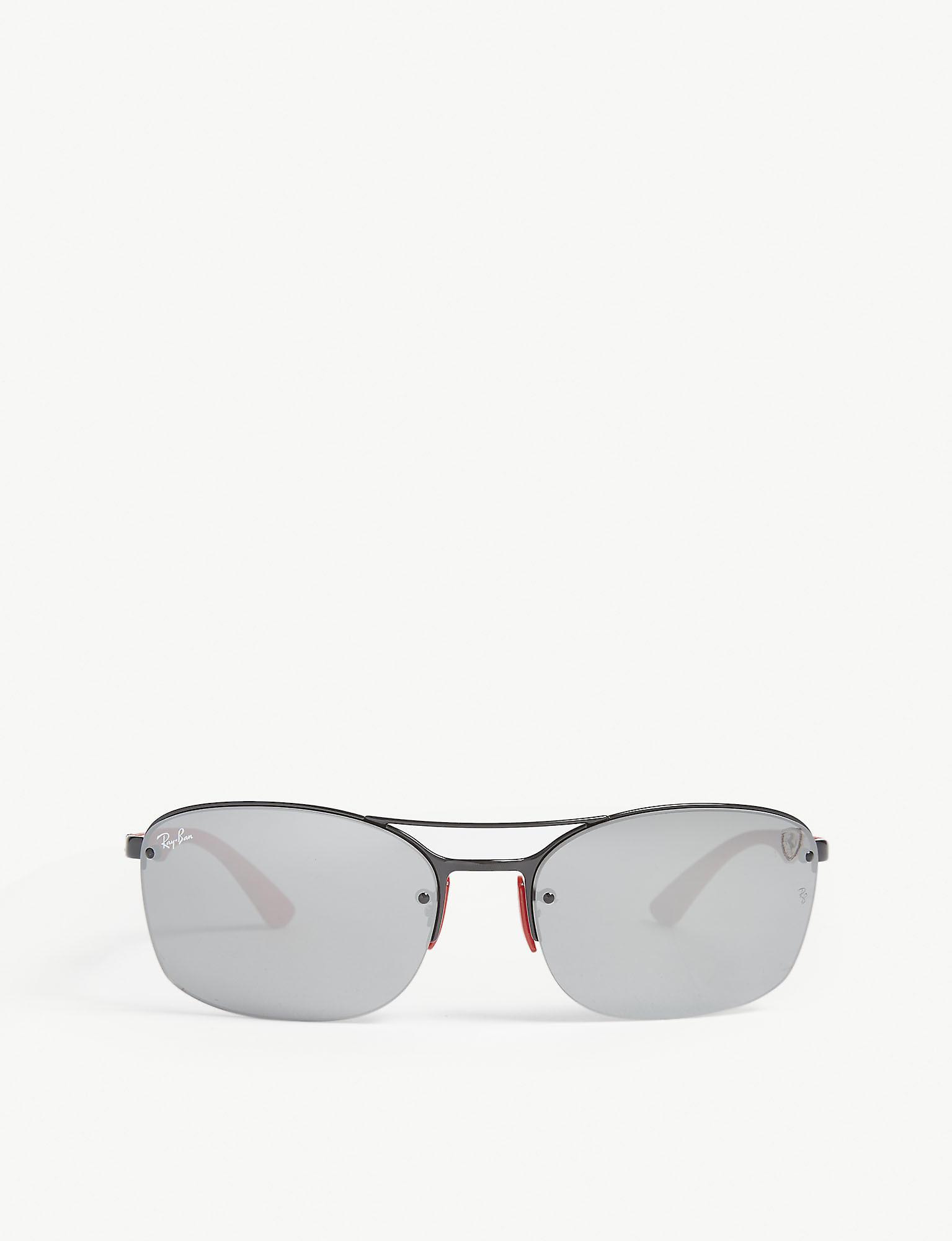 9f8f2b5db1 Ray-Ban Rb3617 Scuderia Ferrari Rectangle-frame Sunglasses in Black ...