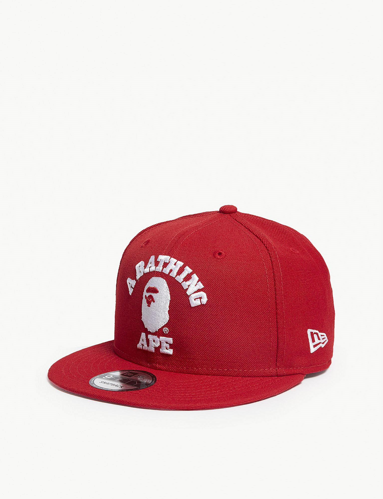 eec9a4495b0 A Bathing Ape College New Era Snapback Cap in Red for Men - Lyst