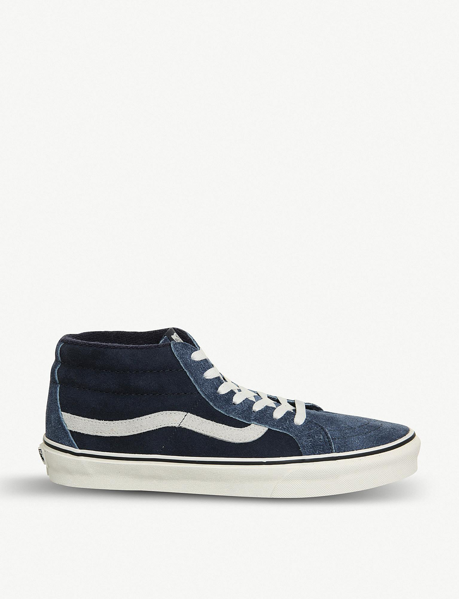 2f168cc1ad9731 Vans Sk8 Mid-top Suede Trainers in Blue for Men - Save 38% - Lyst