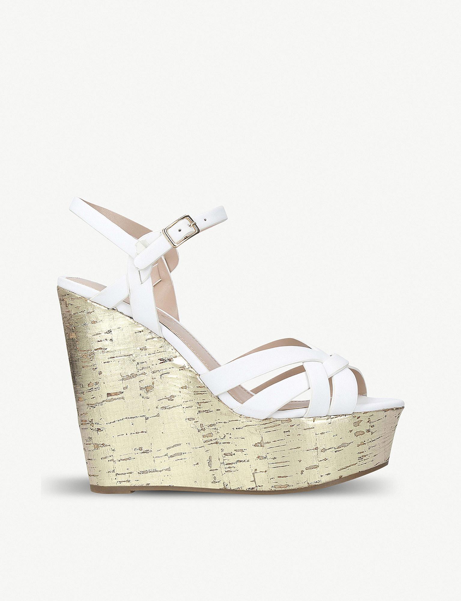 bacb6bb11f2 Lyst - Miss Kg Kabby High Heel Wedge Sandal in White