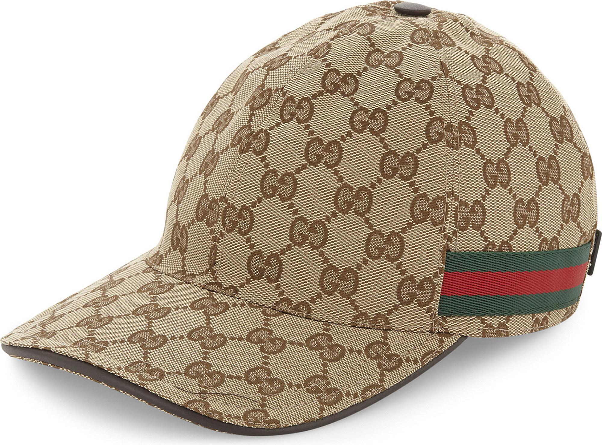 d7cdf8ff6e9 Gucci GG Web Stripe Baseball Cap in Brown for Men - Save 51% - Lyst