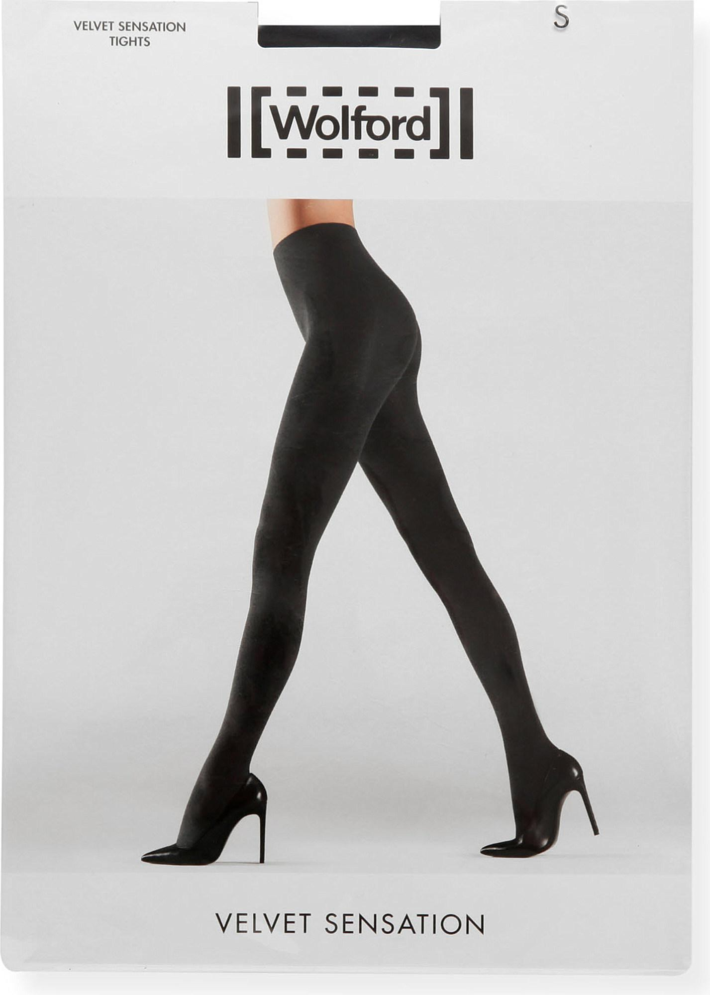 d7e8c672838 Wolford - Black Velvet Sensation Tights - Lyst. View fullscreen