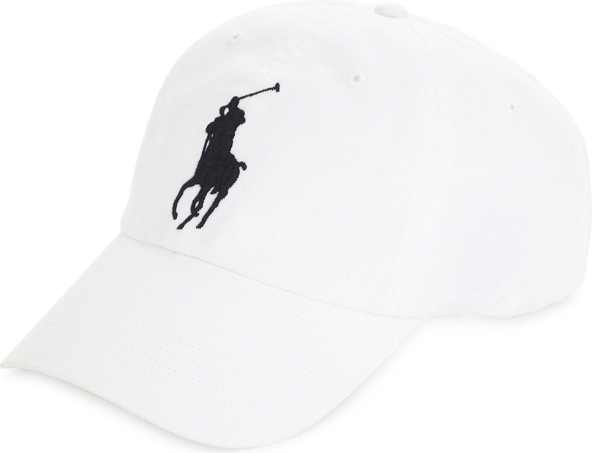 dea98c8ce4a Lyst - Polo Ralph Lauren Embroidered Logo Cotton Cap in White for Men