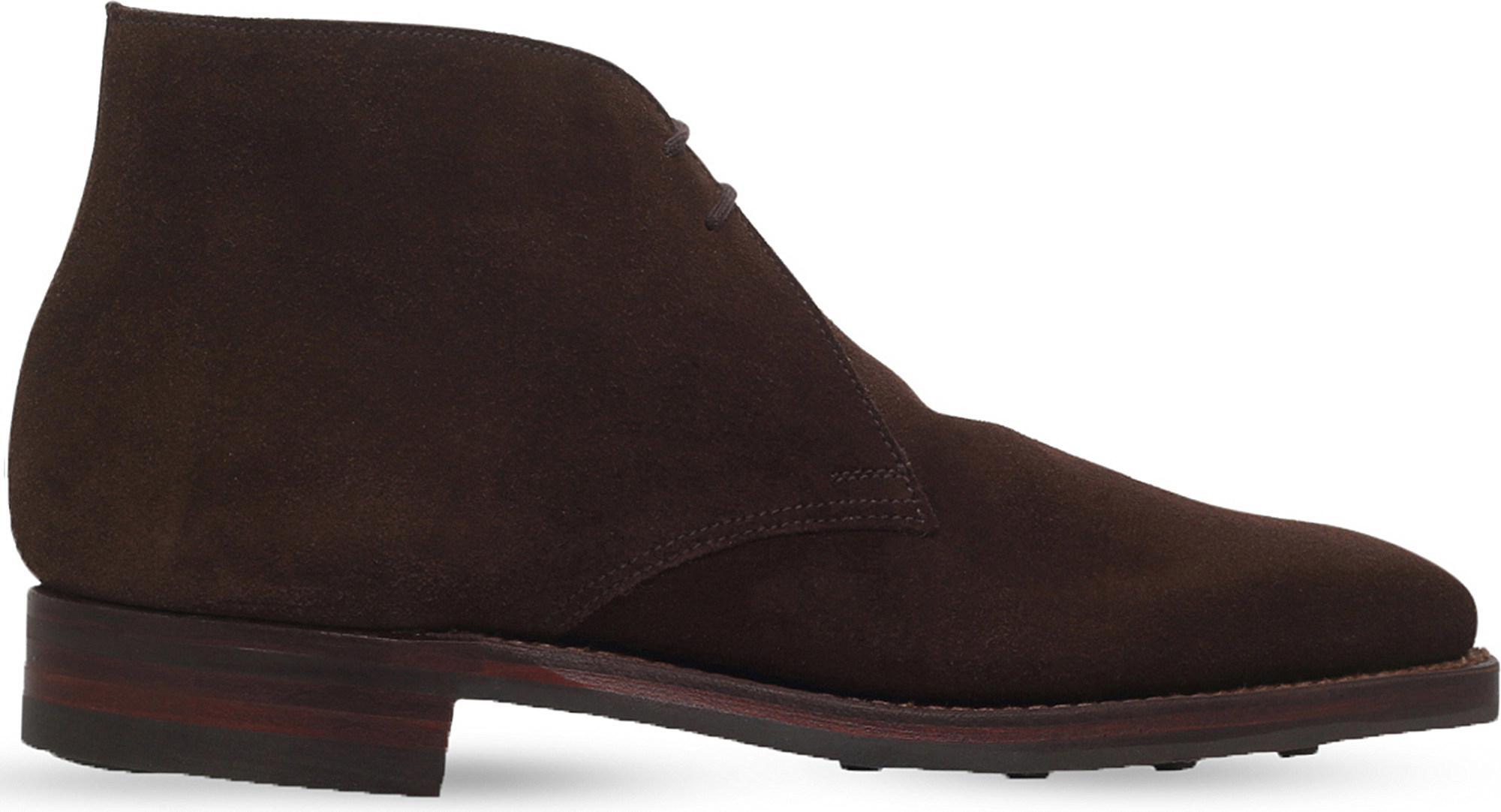 Crockett and Jones  Mens Dark Brown Tetbury Chukka Desert Bootss