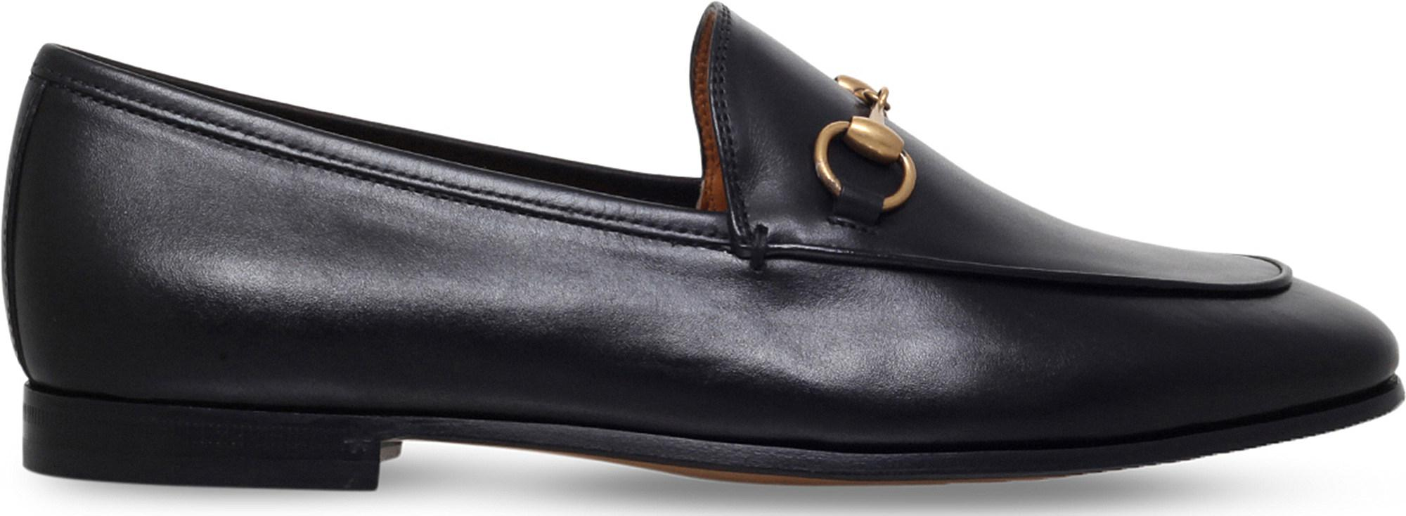 3eb09c8b711 Gucci Jordaan Leather Loafers in Black - Lyst
