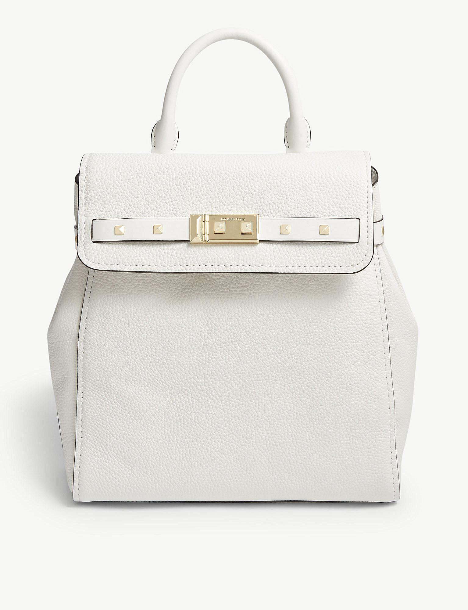 12b0698eb9c3 MICHAEL Michael Kors Addison Leather Backpack in White - Lyst