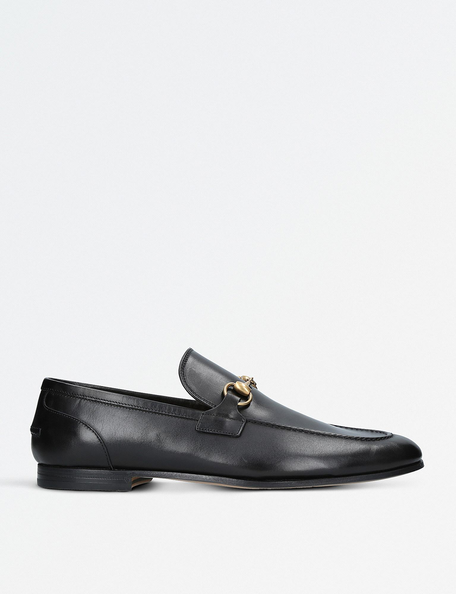 4461d257883 Lyst - Gucci Jordaan Leather Loafers in Black for Men