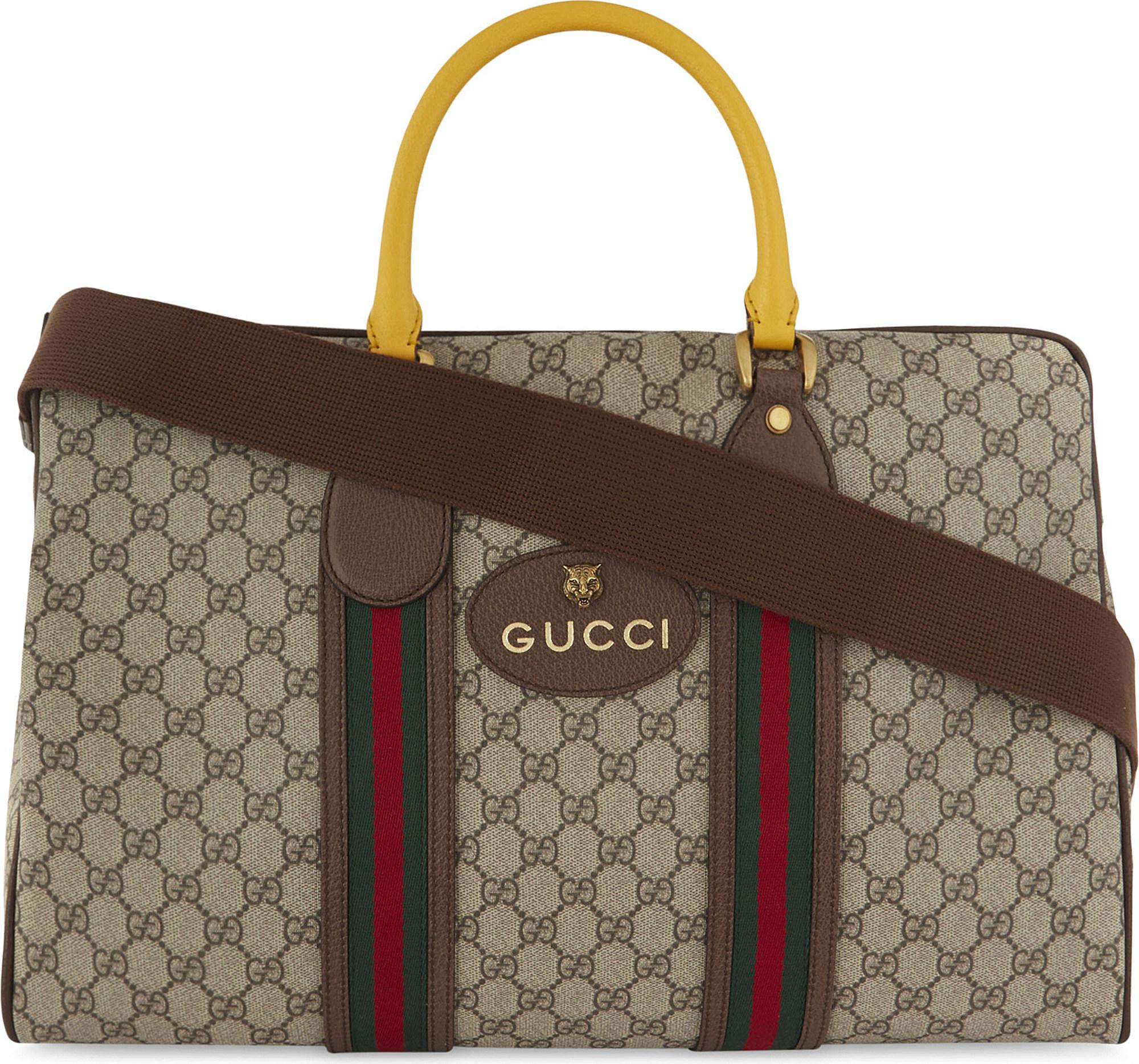 1c317e8fe Gucci Vintage Supreme Canvas Duffel Bag in Brown for Men - Lyst